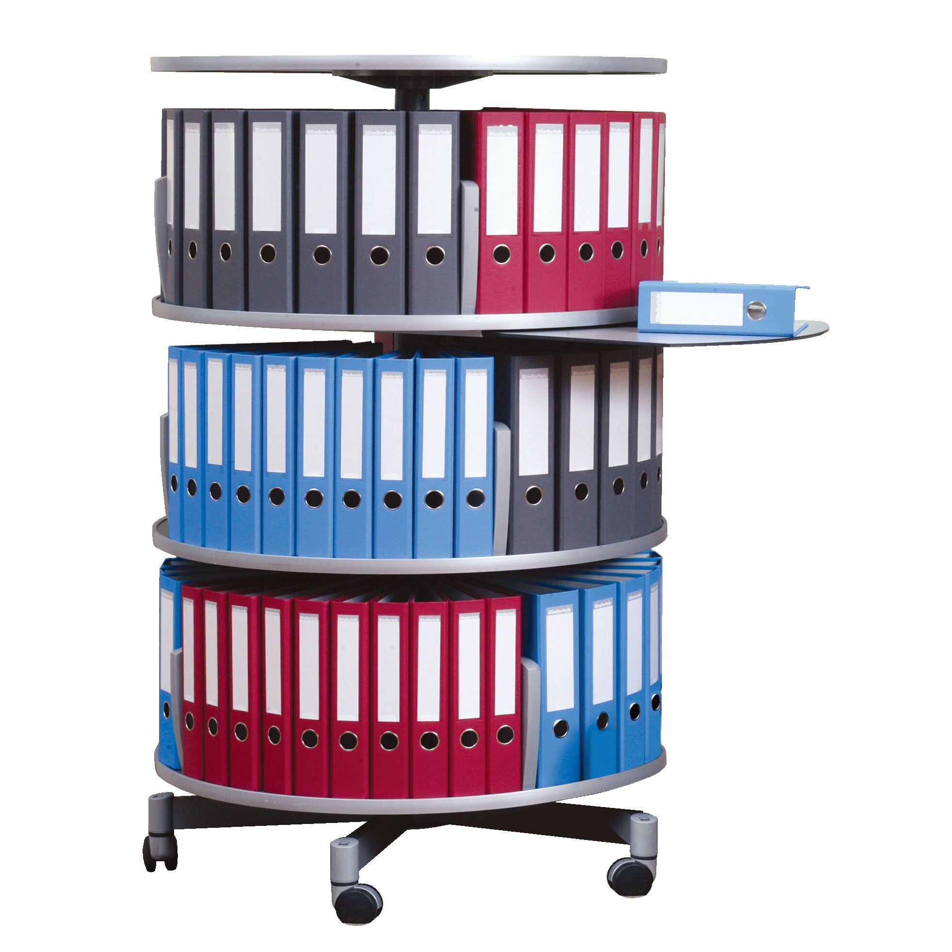 Moll Deluxe Binder & File Carousel Three Tier Shelving
