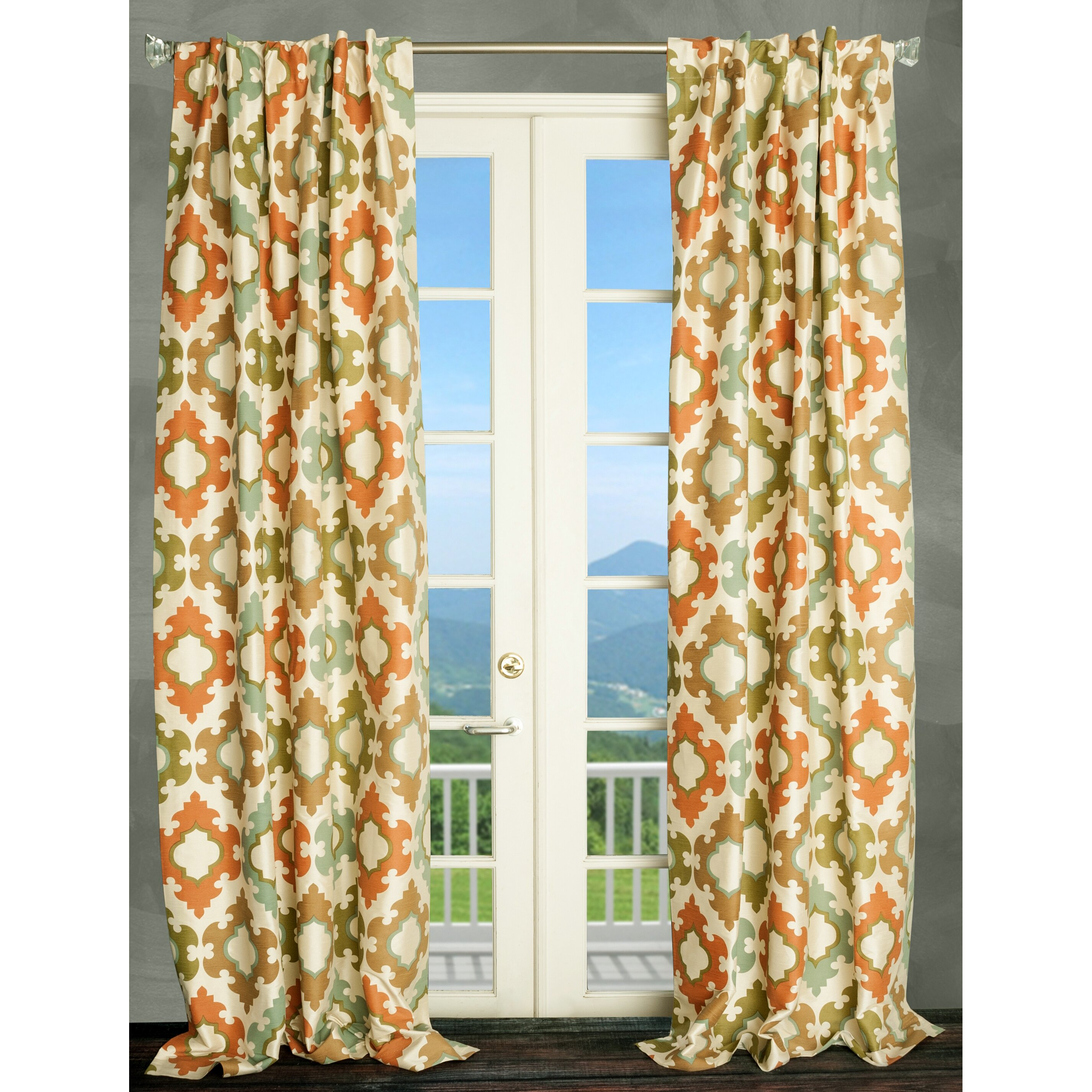 Parisian Home Style Damask Thermal Single Panel Curtain