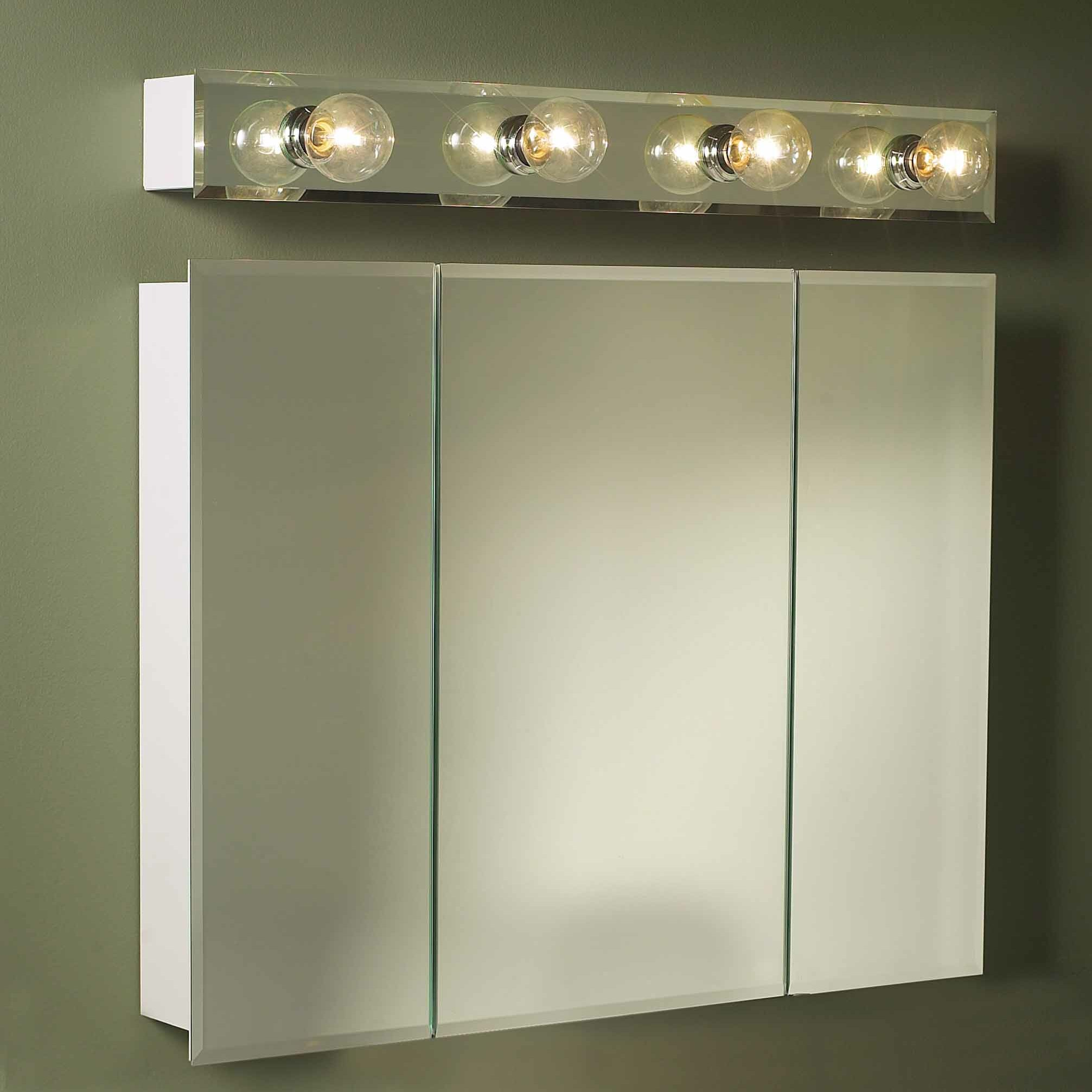 Jensen Medicine Cabinet With Lights By Jensen 36 Quot X 28 25 Quot Surface  Mount Beveled ...
