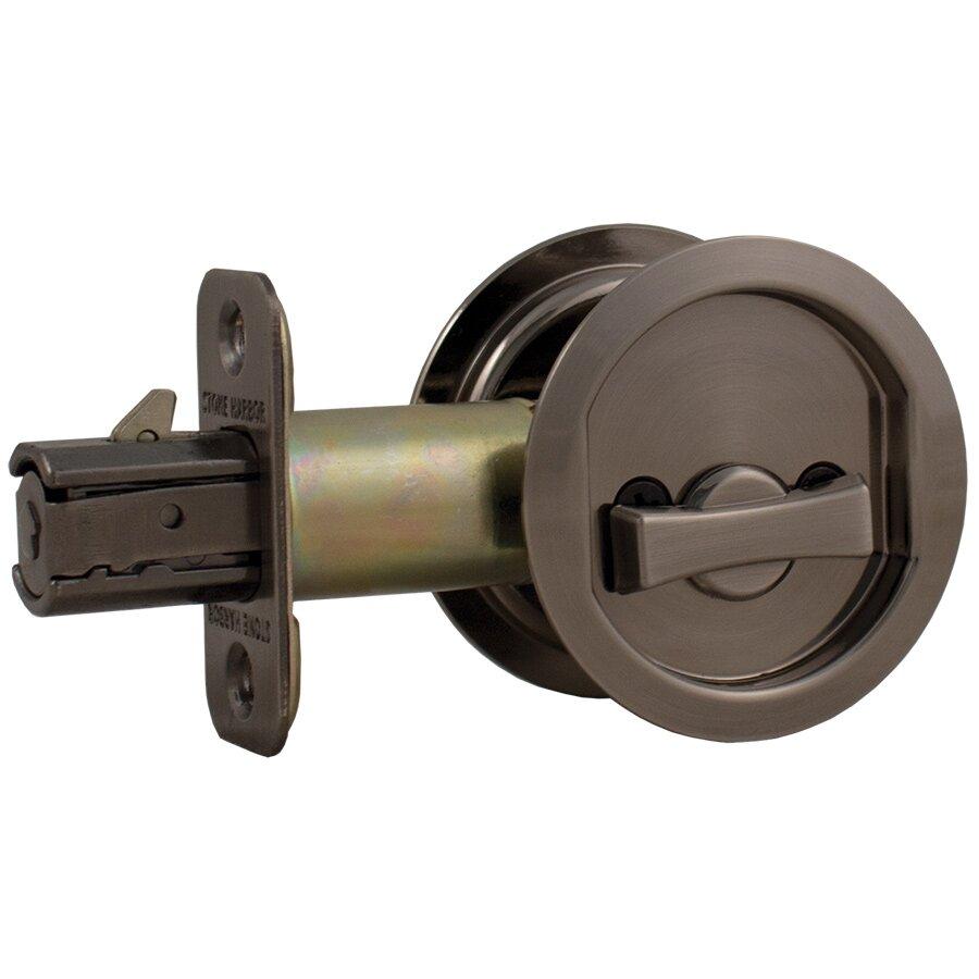 how to change round pocket door lock