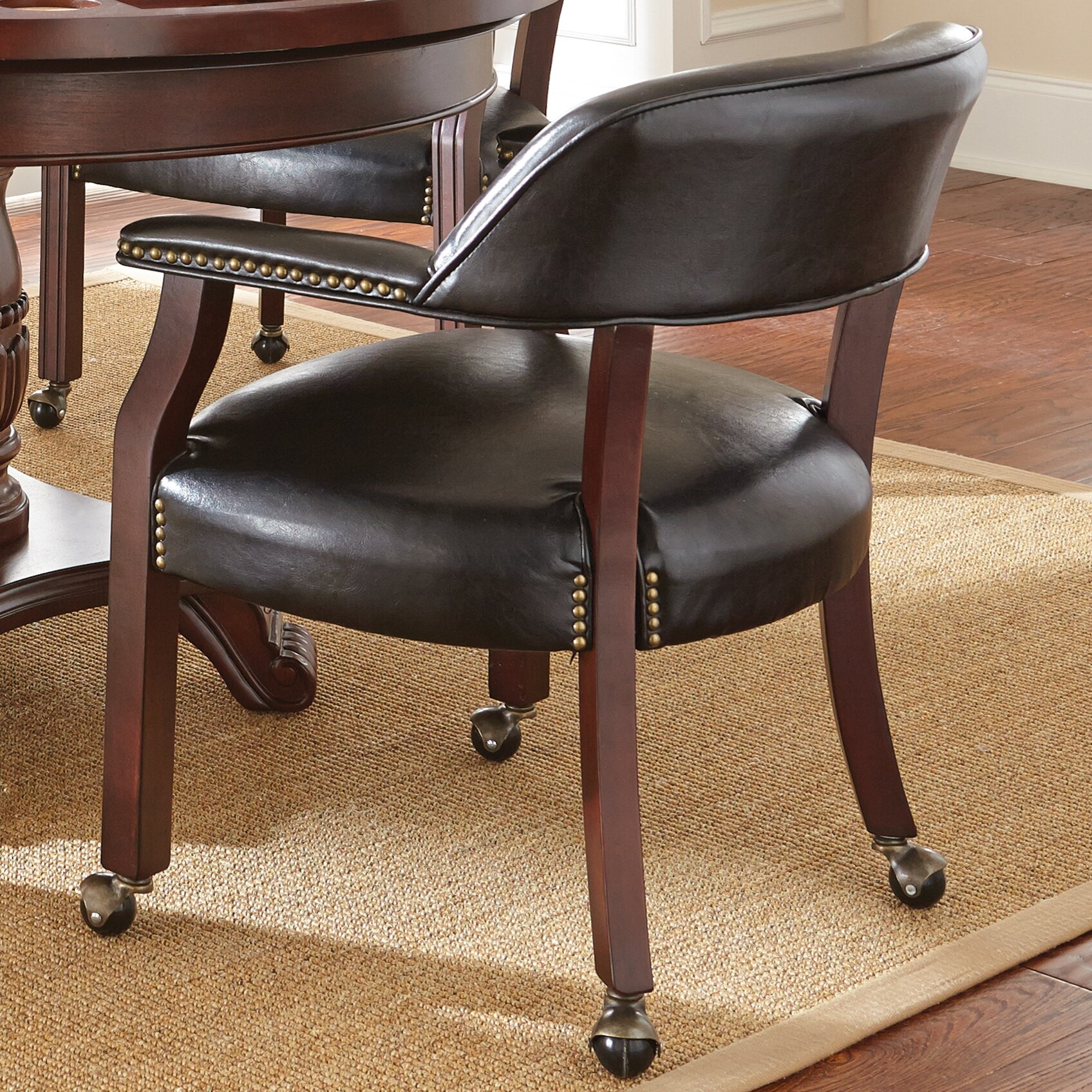 Dining Room Chairs With Arms And Casters Casters Kitchen Amp Dining Chairs You39ll Love Wayfair