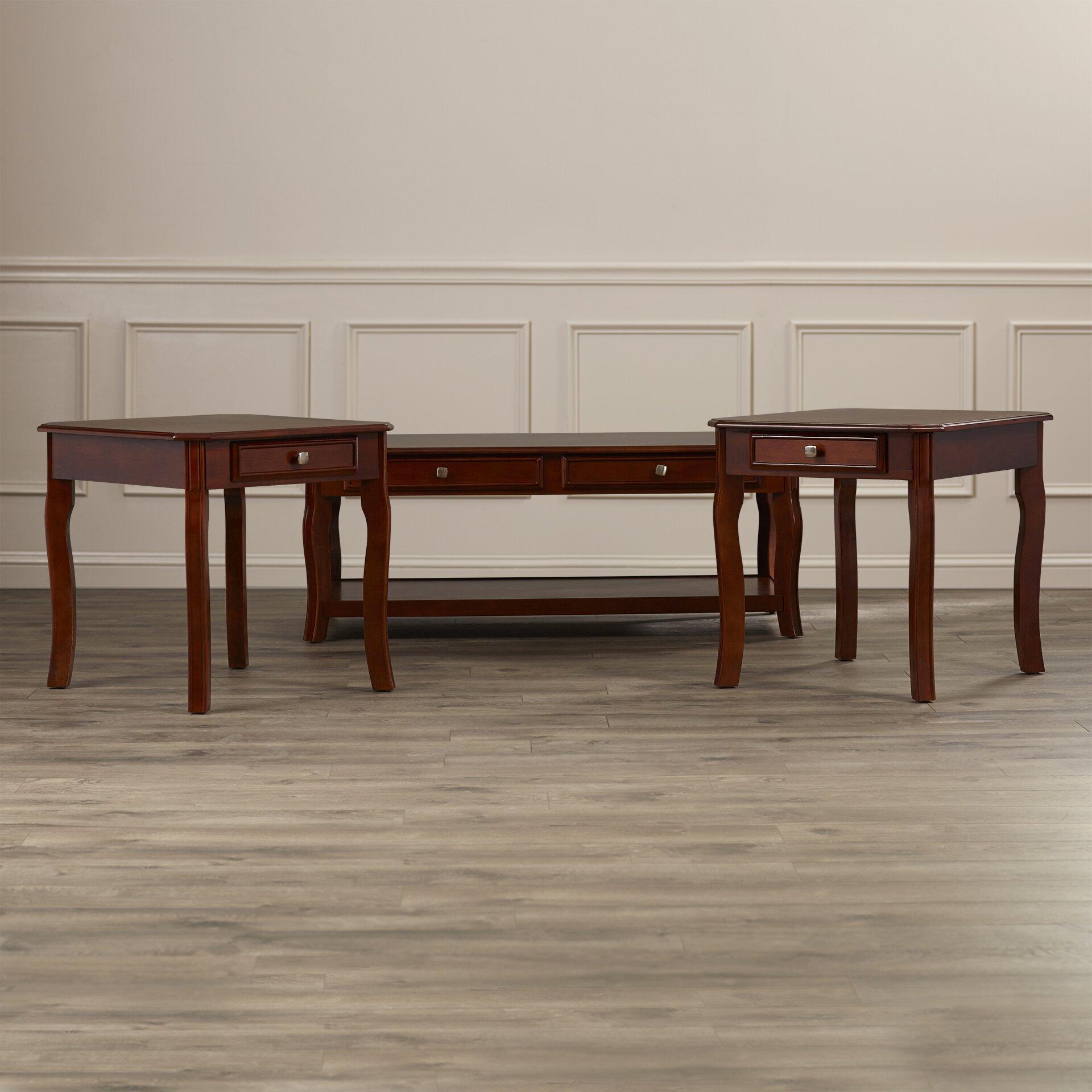 Rosalind Wheeler 3 Piece Coffee Table Set RSWH