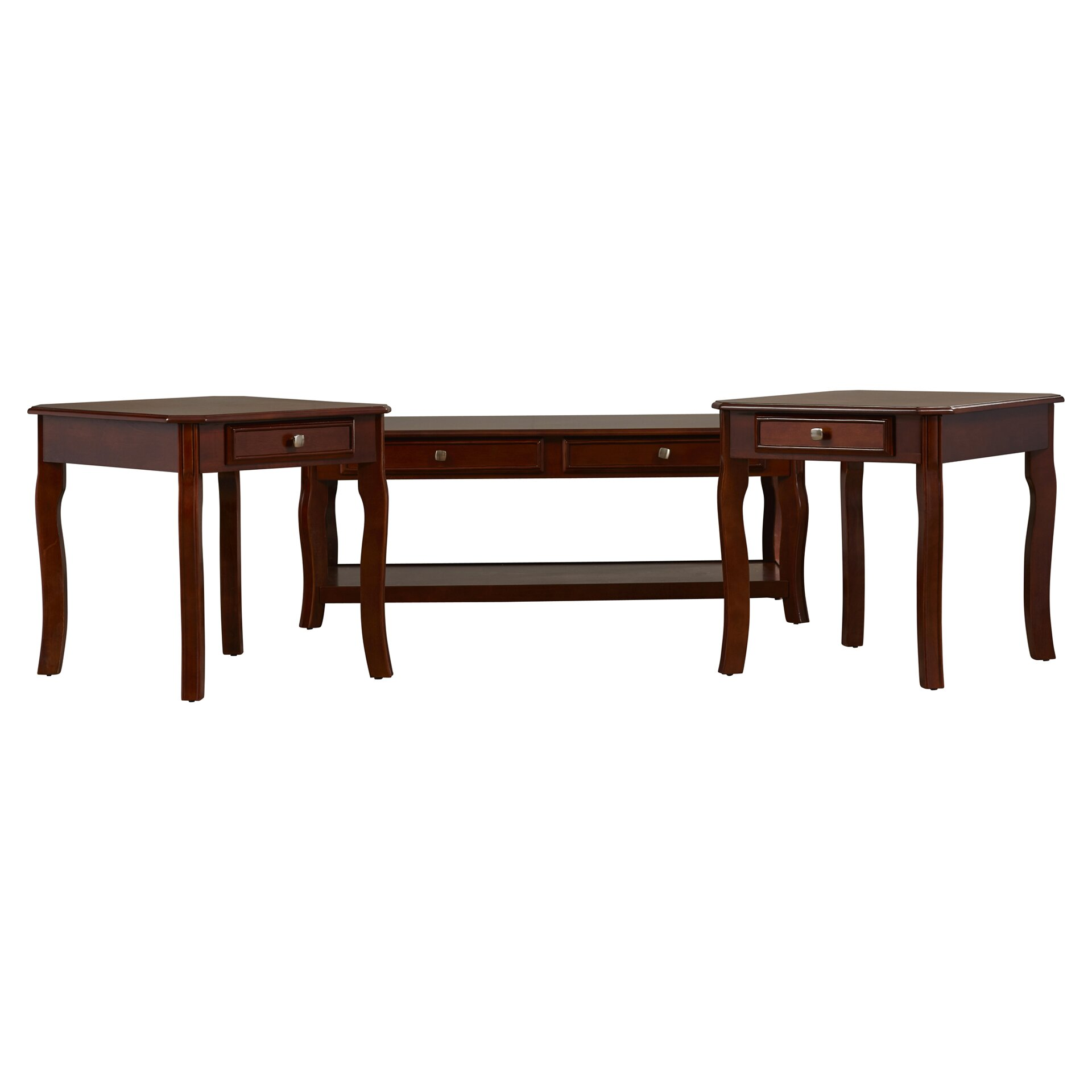 Rosalind Wheeler 3 Piece Coffee Table Set Reviews Wayfair