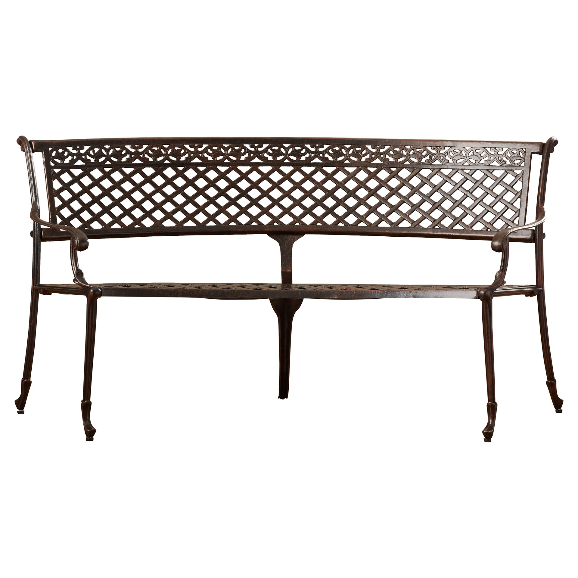 Rosalind wheeler lacombe aluminum garden bench reviews Aluminum benches