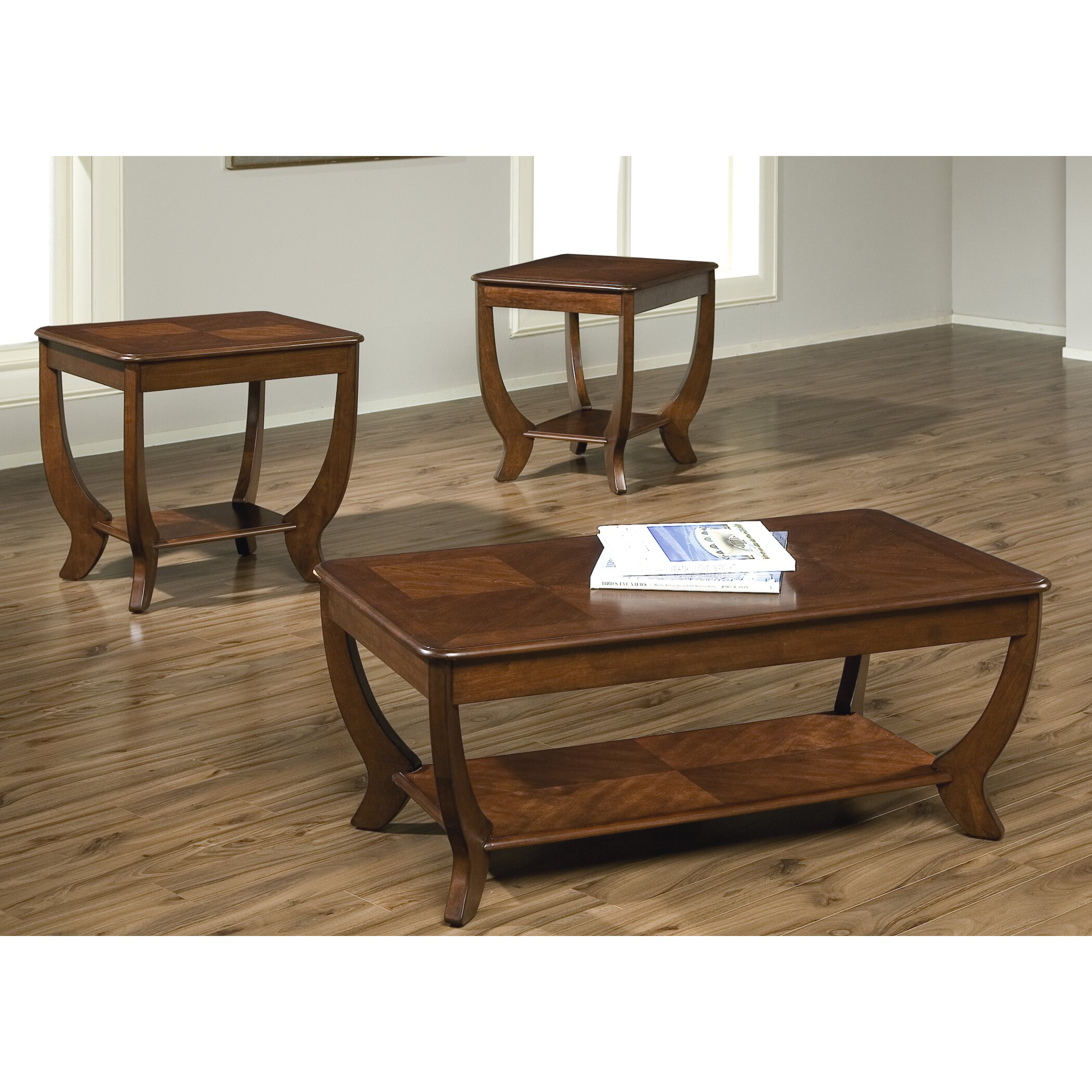 Rosalind Wheeler Pettigrew 3 Piece Coffee Table Set