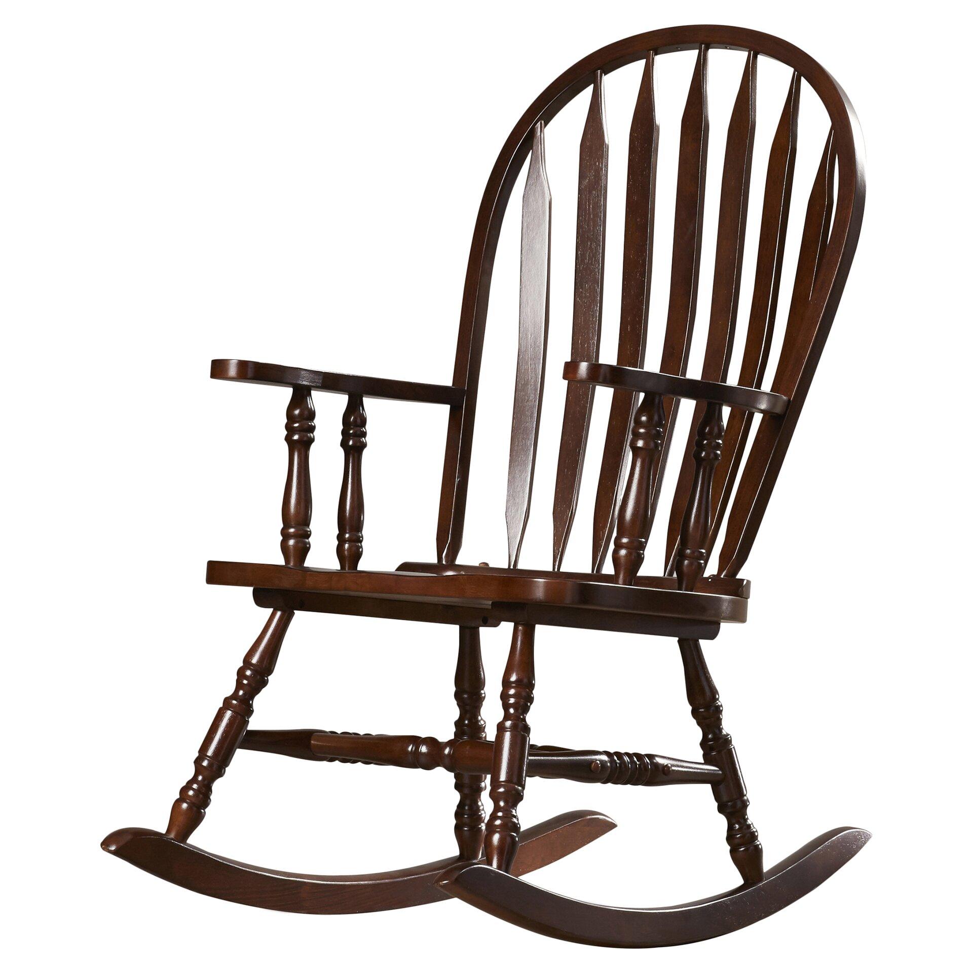 Rosalind Wheeler Dollison Rocking Chair With Arms Reviews Wayfair