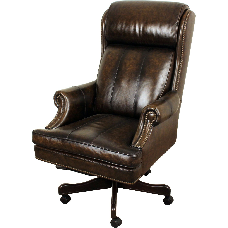 Rosalind Wheeler Lynton High Back Leather Executive Office