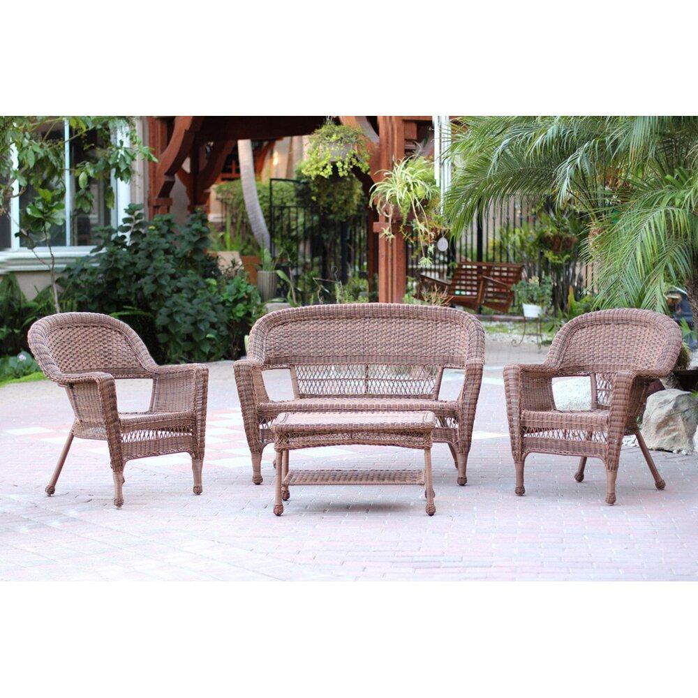 Rosalind Wheeler Townsley 4 Piece Lounge Seating Group