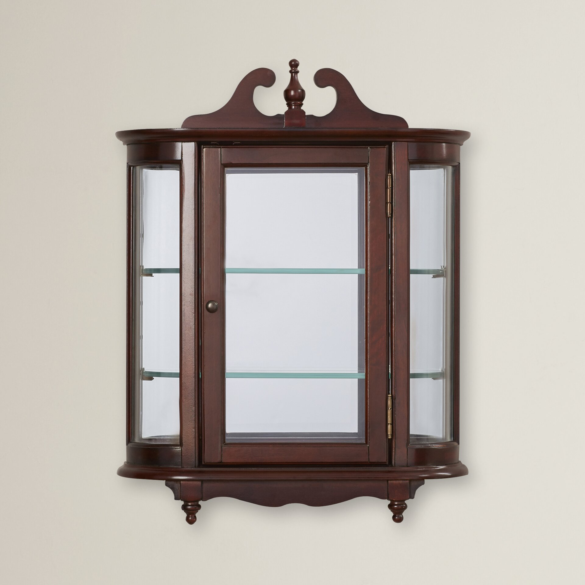 rosalind wheeler cheshire wall mounted curio cabinet. Black Bedroom Furniture Sets. Home Design Ideas