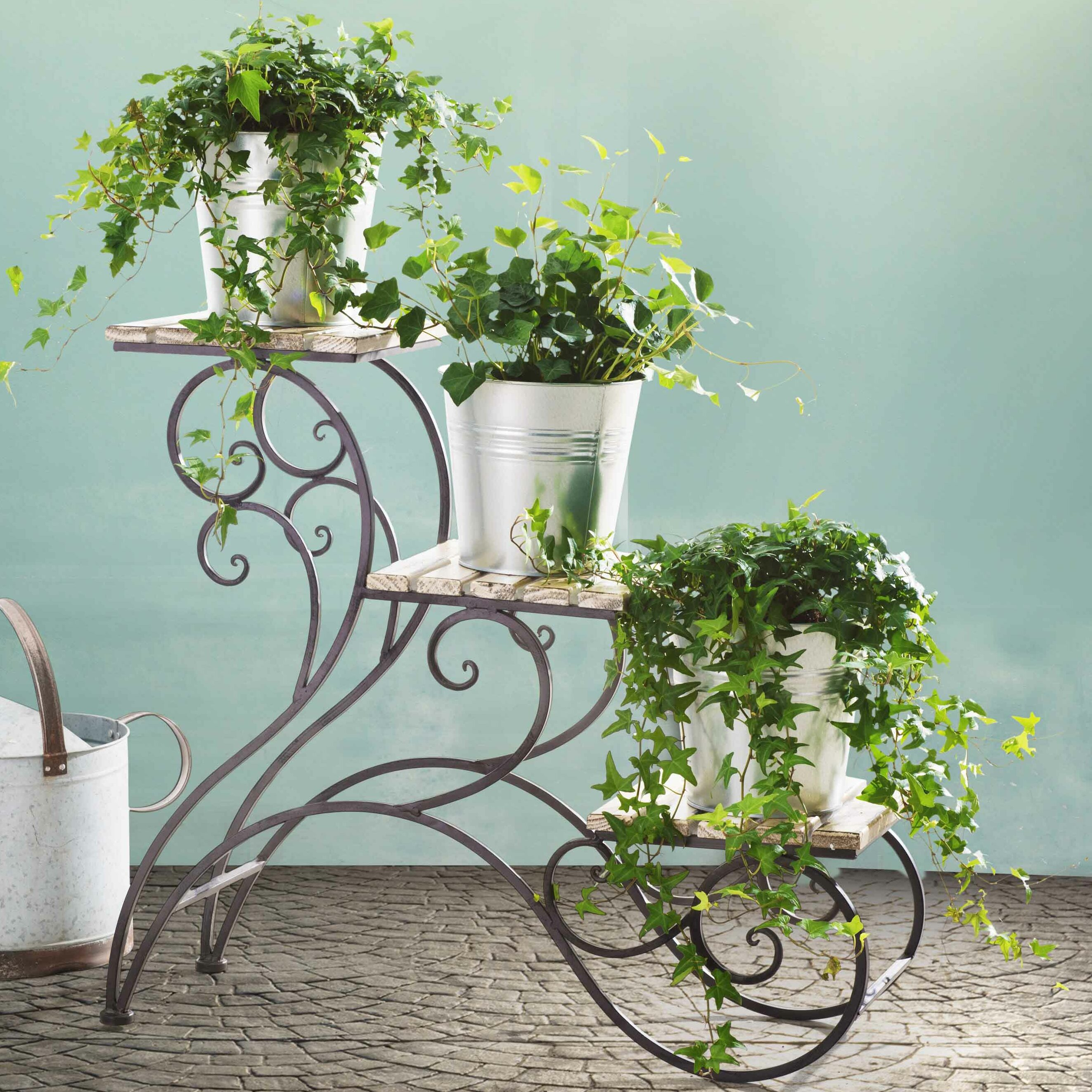 Rosalind Wheeler Elderberry Multi Tiered Plant Stand