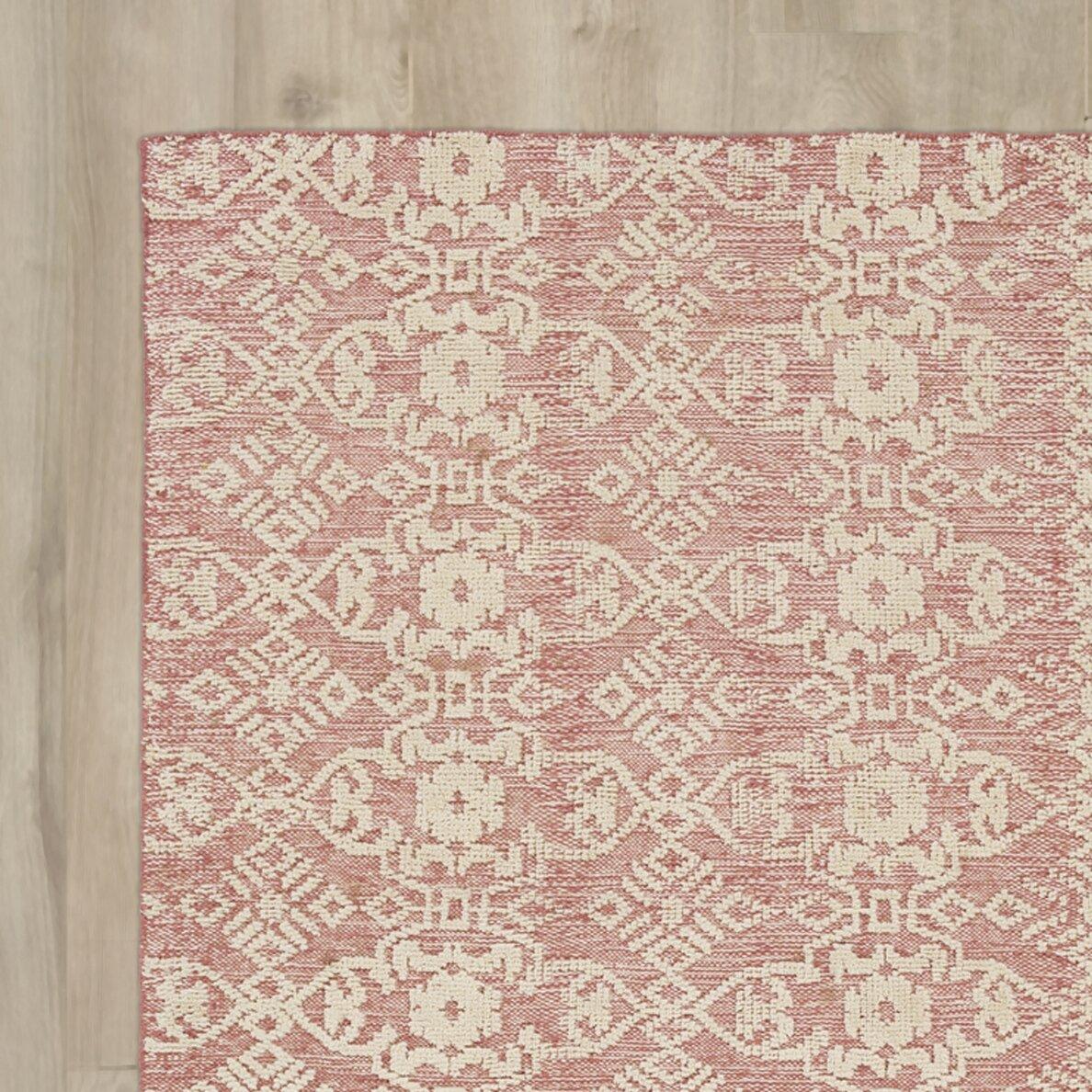 rosalind wheeler dredge light pink area rug wayfair