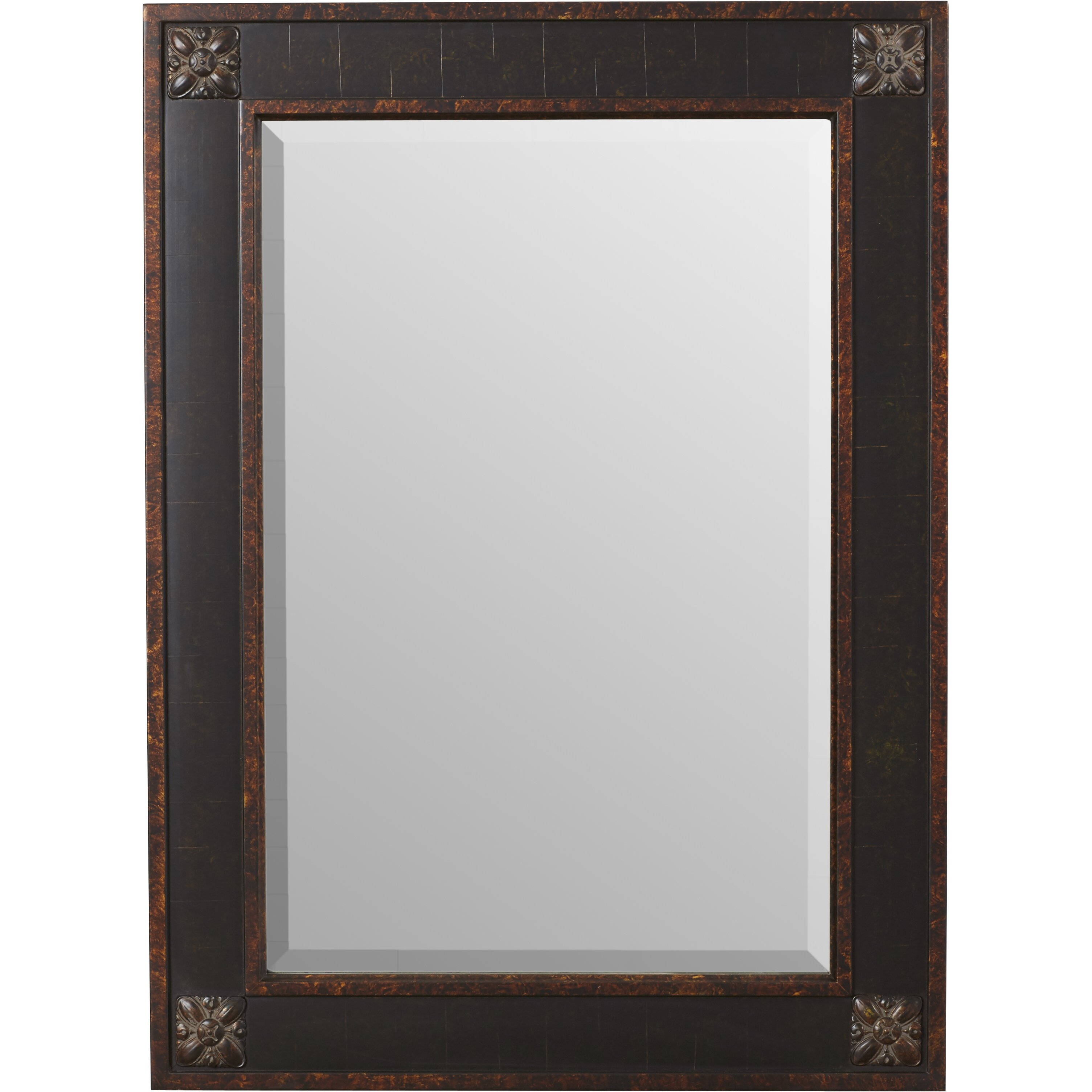 Rosalind wheeler rectangular beveled vanity mirror in for Beveled mirror