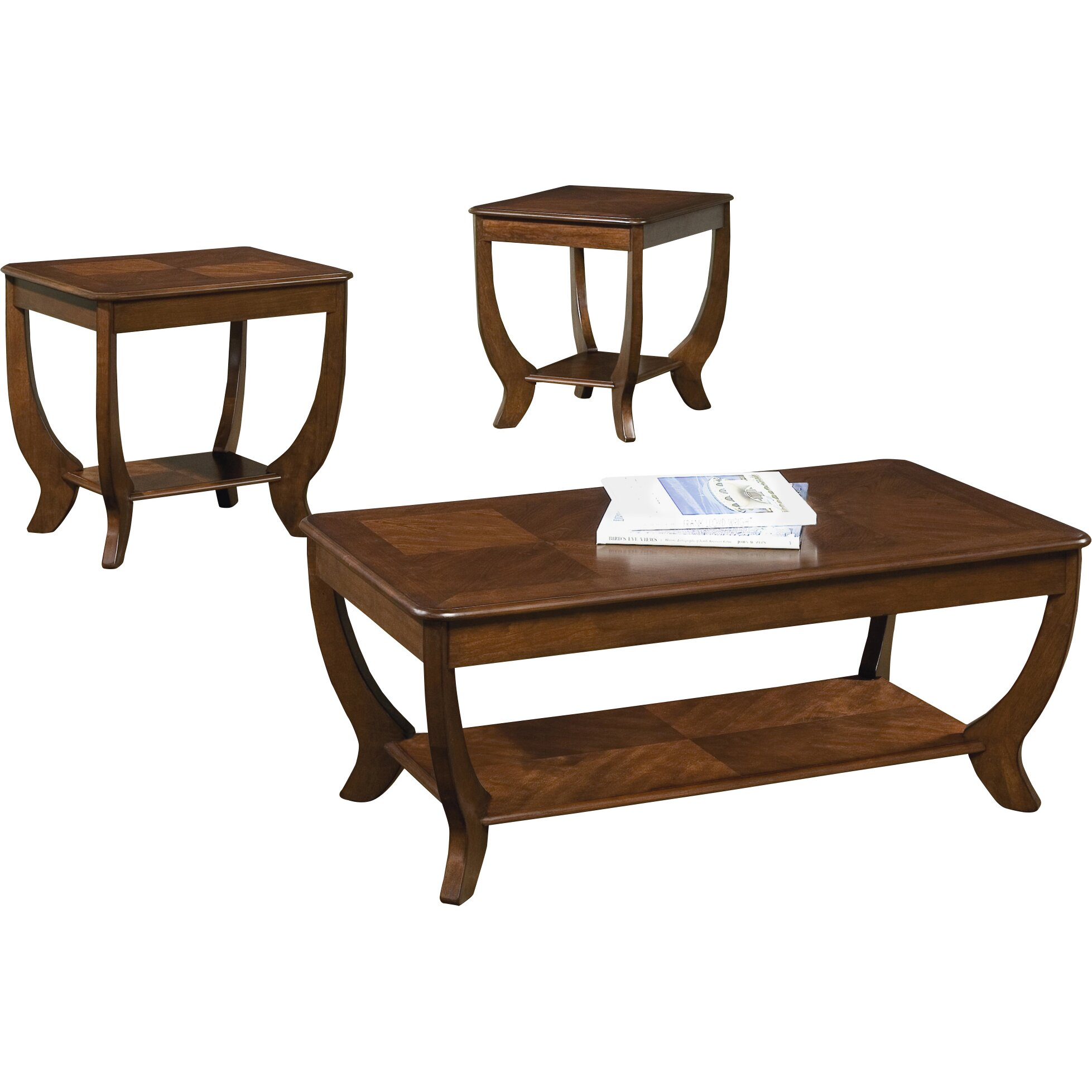 Rosalind Wheeler Pettigrew 3 Piece Coffee Table Set Reviews