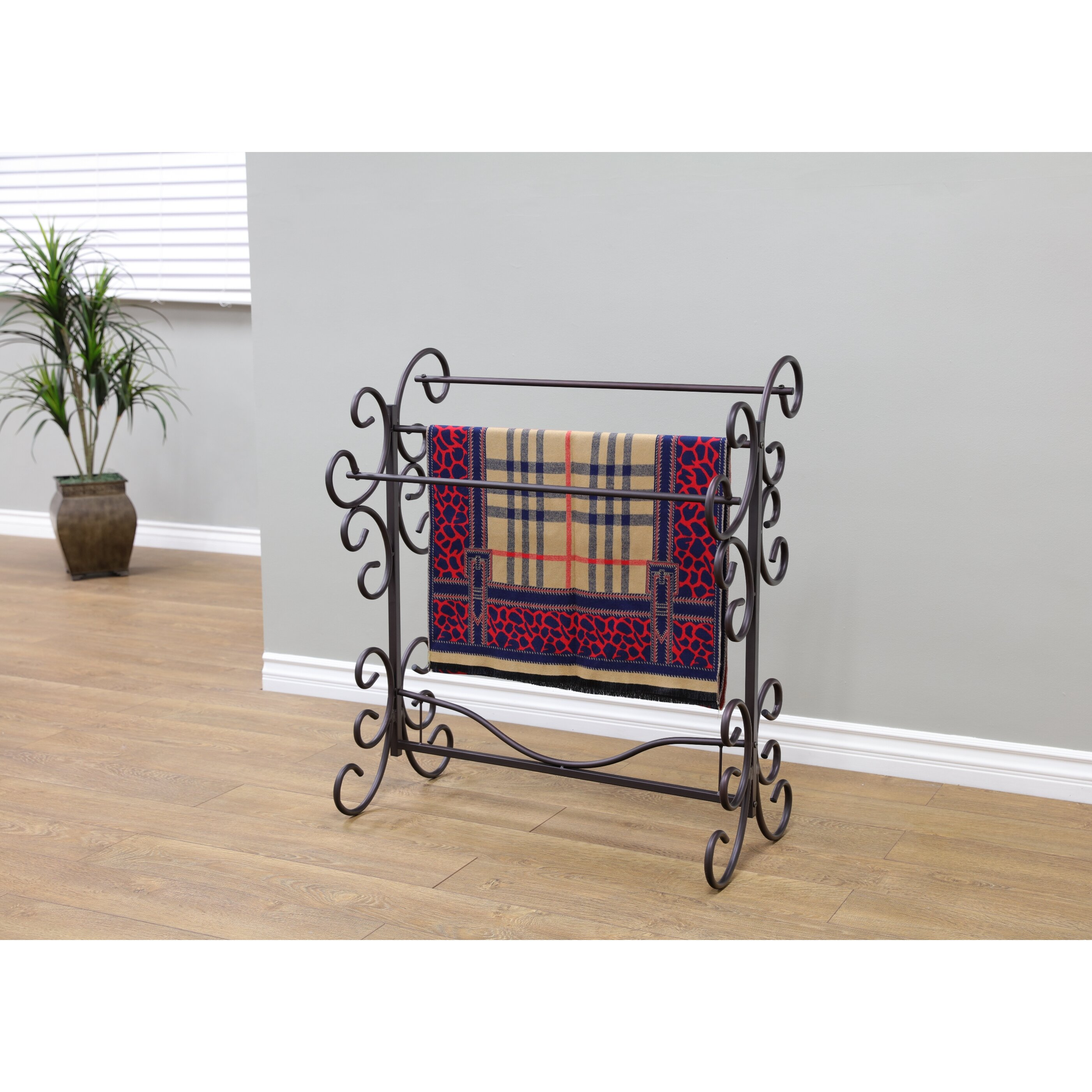Rosalind Wheeler Metal Scroll Quilt Rack Amp Reviews Wayfair