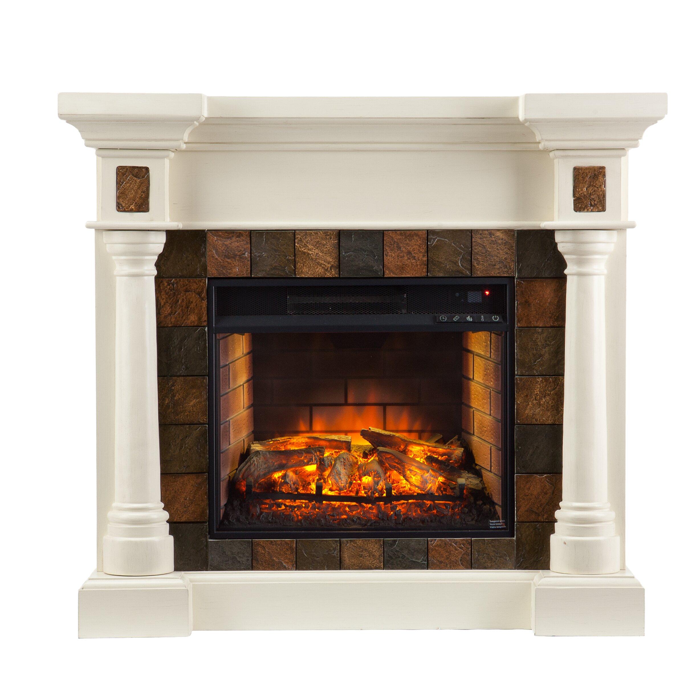 Rosalind Wheeler Goodrich Convertible Infrared Electric Fireplace Reviews Wayfair