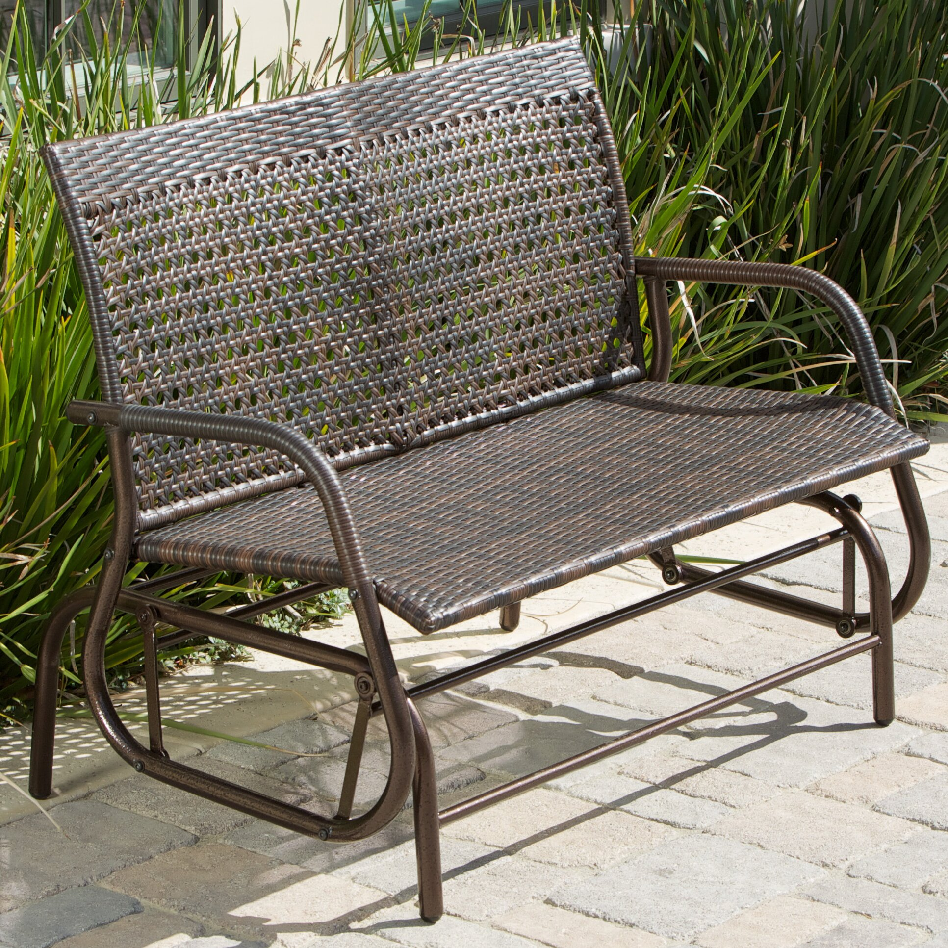 Bay Isle Home Orchid Outdoor Swinging Bench Reviews Wayfair