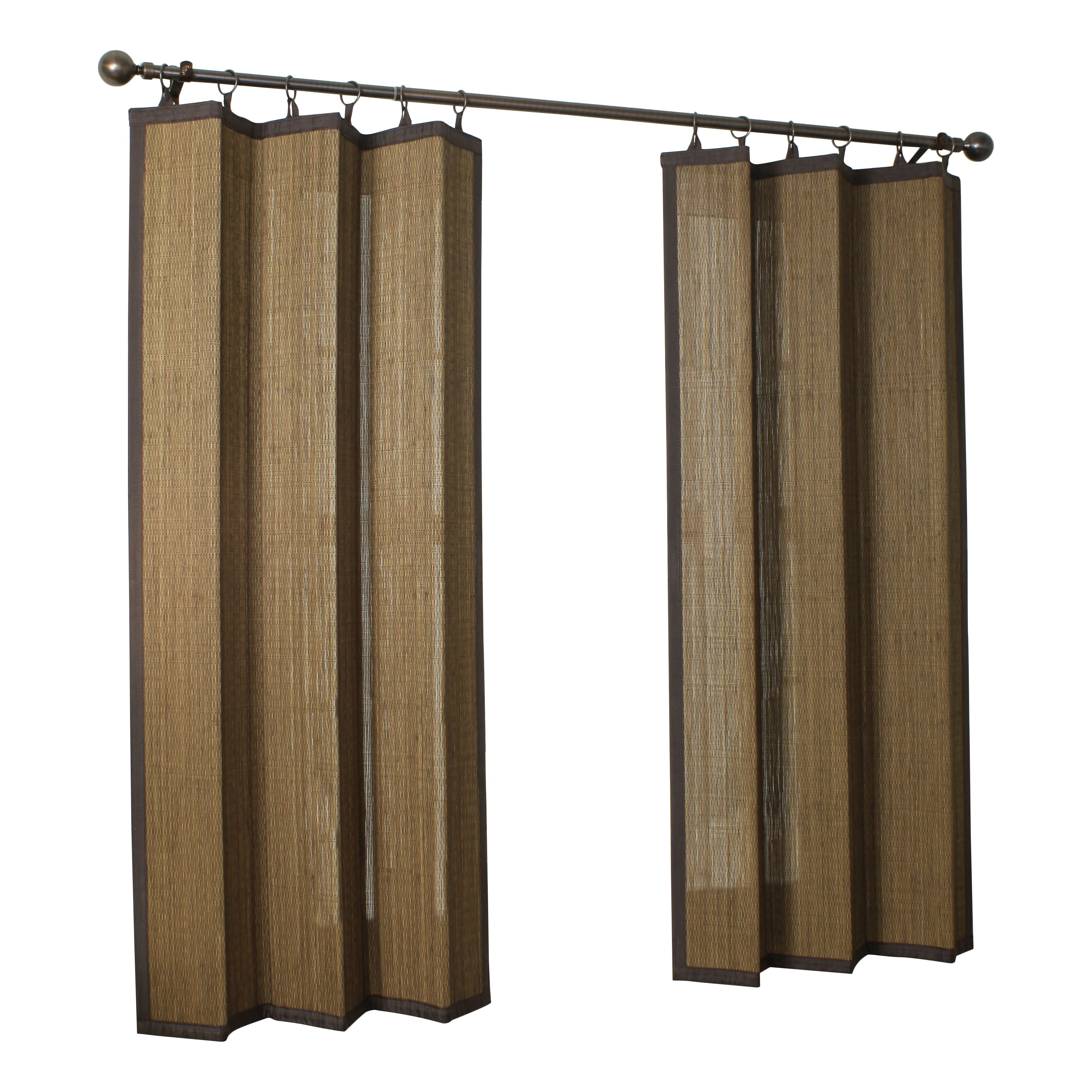 Bay Isle Home Nassau Indoor Outdoor Bamboo Rayon Ring Top Single Curtain Panel Reviews Wayfair