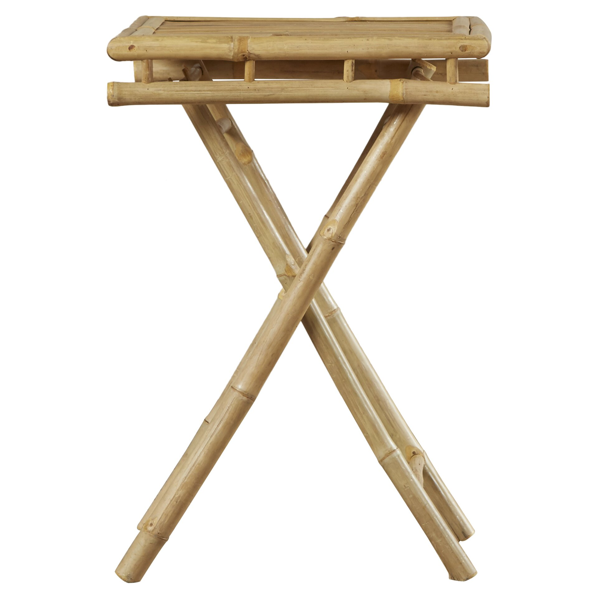 Bay isle home porter folding bamboo side table reviews for Bamboo side table