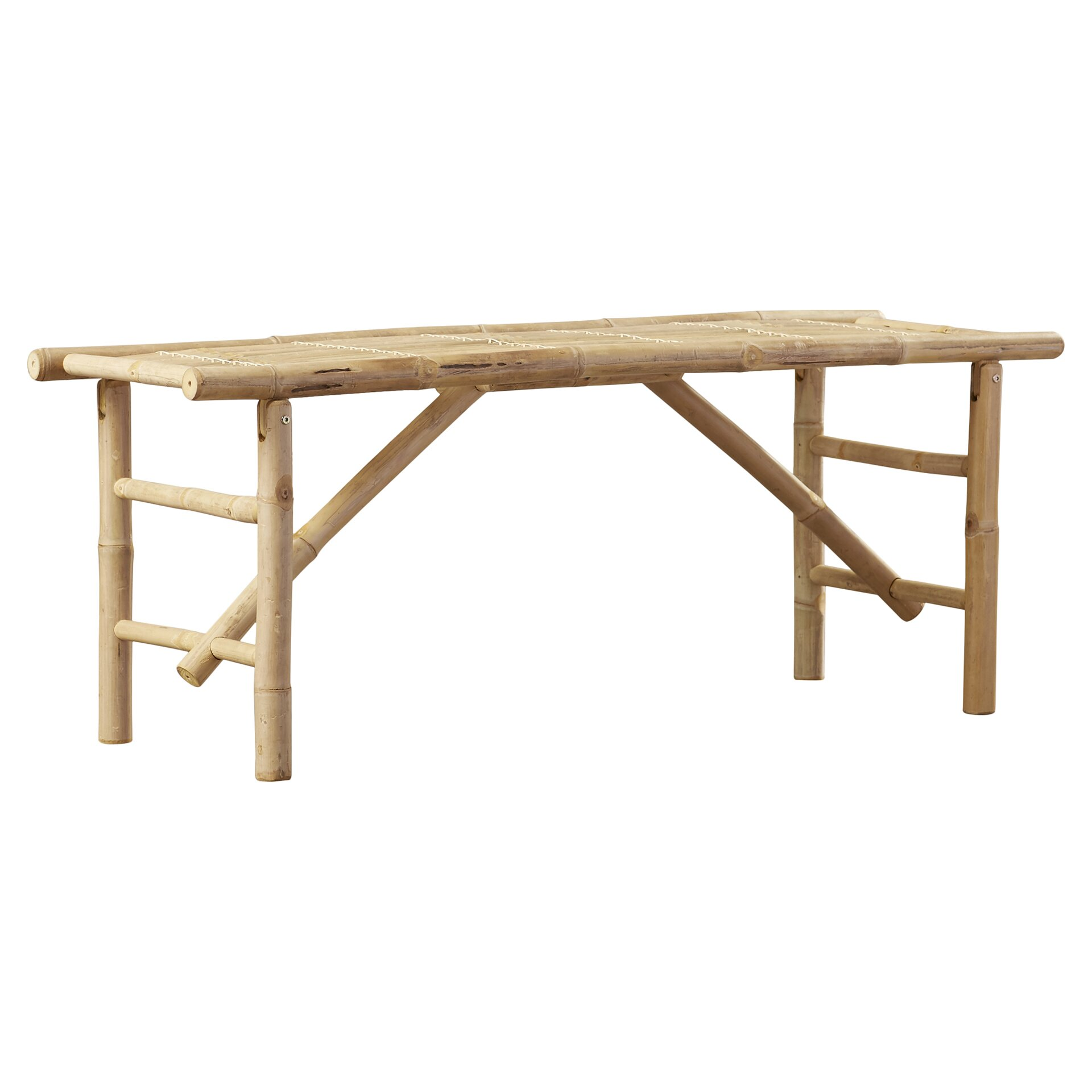 Bay Isle Home Porter Wood Folding Bench Reviews Wayfair