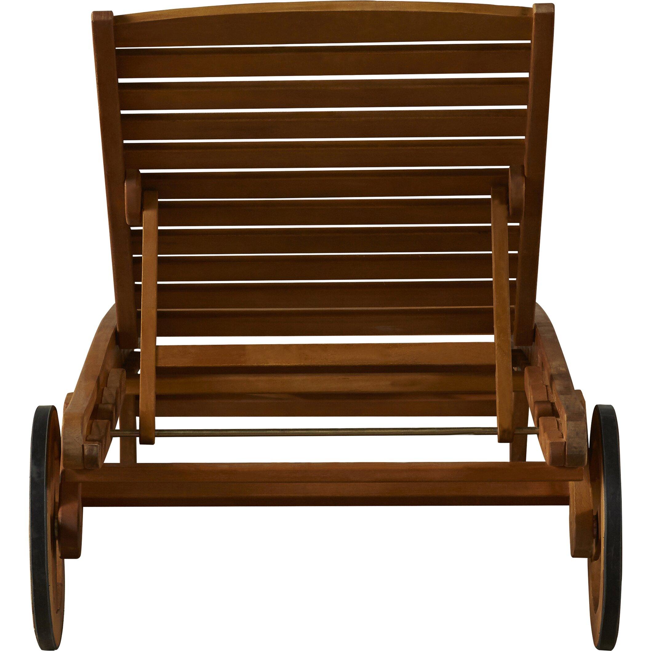Bay Isle Home Dracaena Balau Wood Patio Chaise Lounge & Reviews