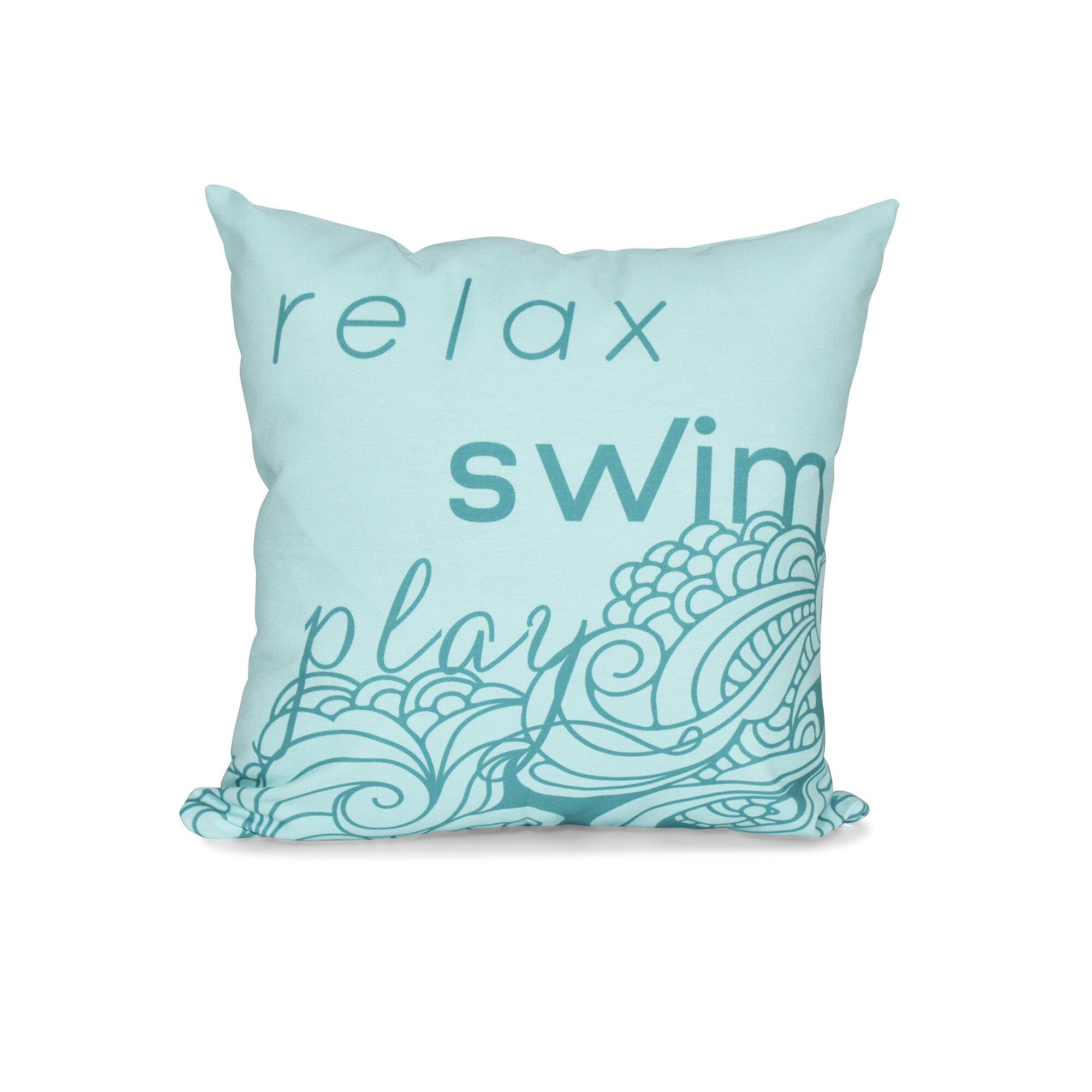 Bay Isle Home Grand Ridge Mellow Mantra Word Outdoor Throw Pillow Wayfair