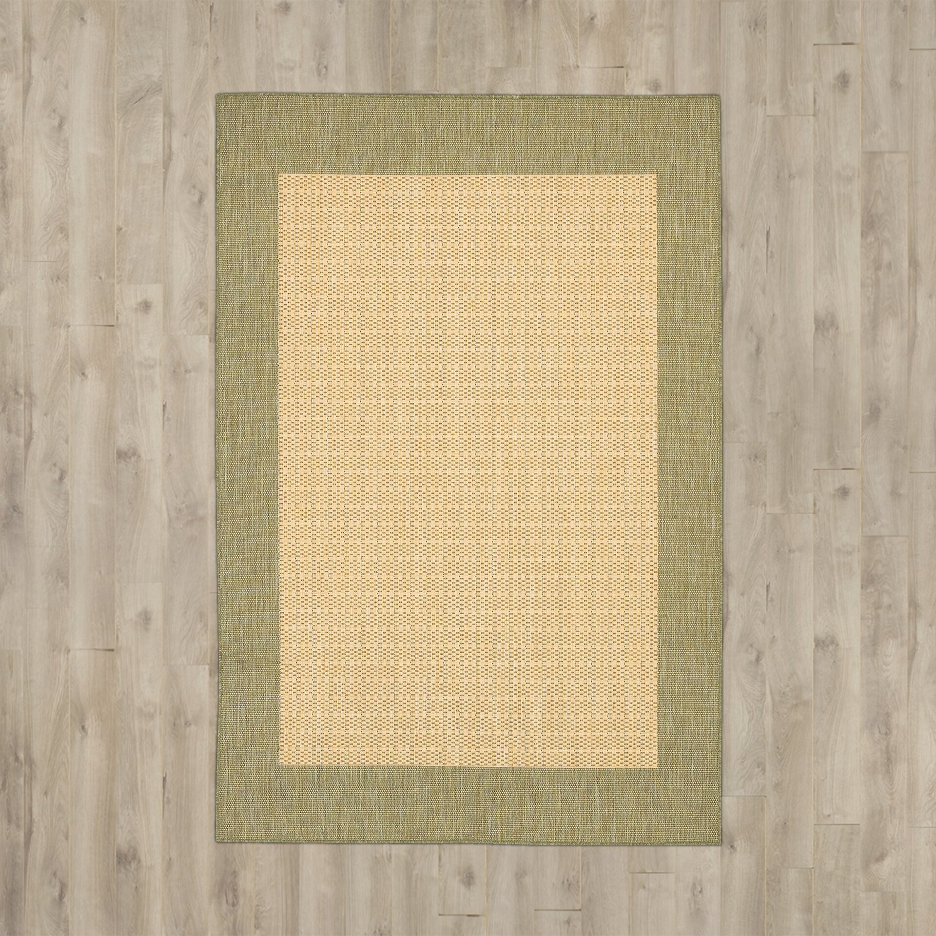 Bay isle home southard checkered field natural area rug reviews - Checkerboard area rug ...