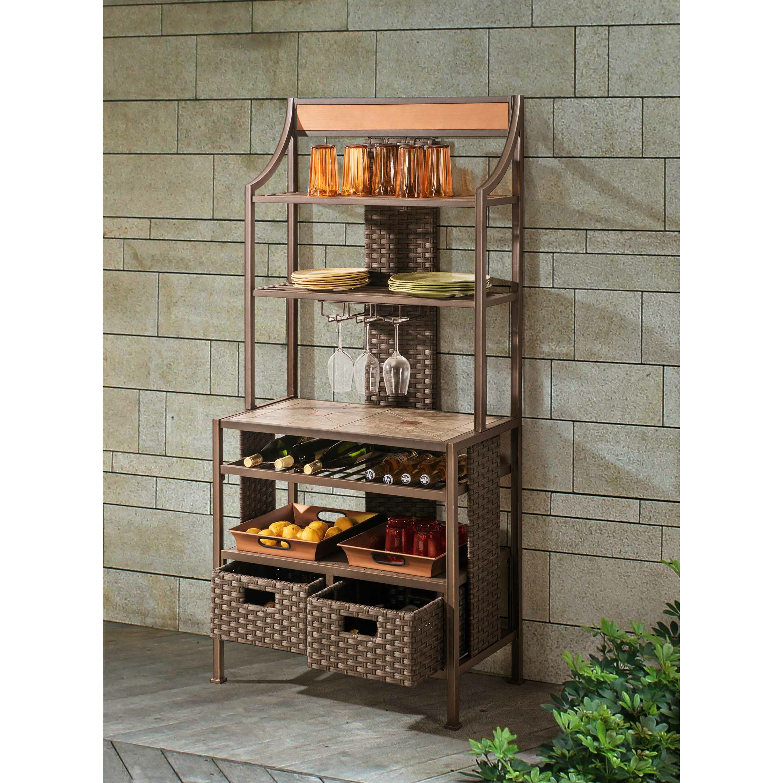 bay isle home northridge storage baker 39 s rack wayfair. Black Bedroom Furniture Sets. Home Design Ideas