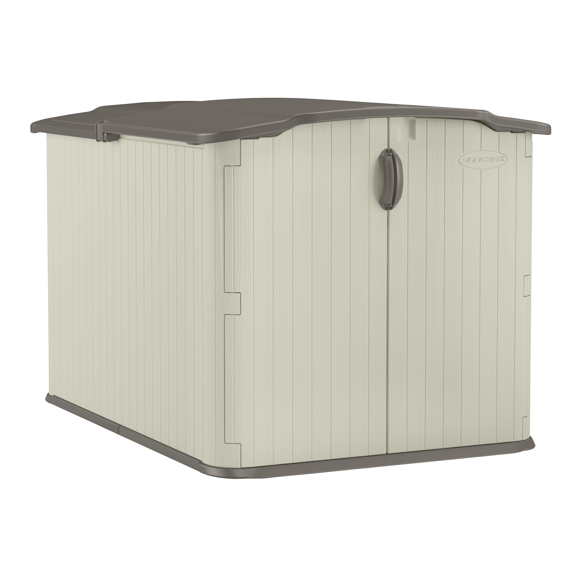 Symple stuff 5 ft w x 7 ft d plastic storage shed for Garden shed 7 x 5