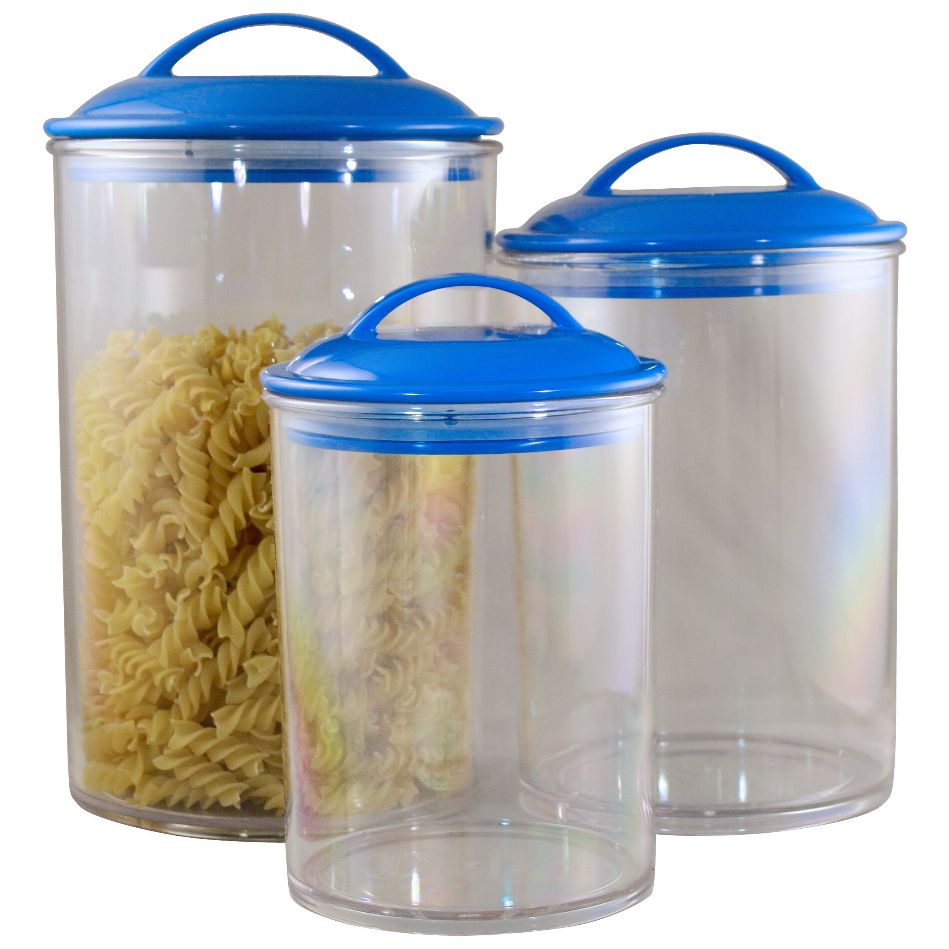 Symple Stuff 3 Piece Acrylic Canister Set & Reviews
