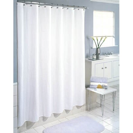 symple stuff cotton waffle weave shower curtain reviews wayfair. Black Bedroom Furniture Sets. Home Design Ideas