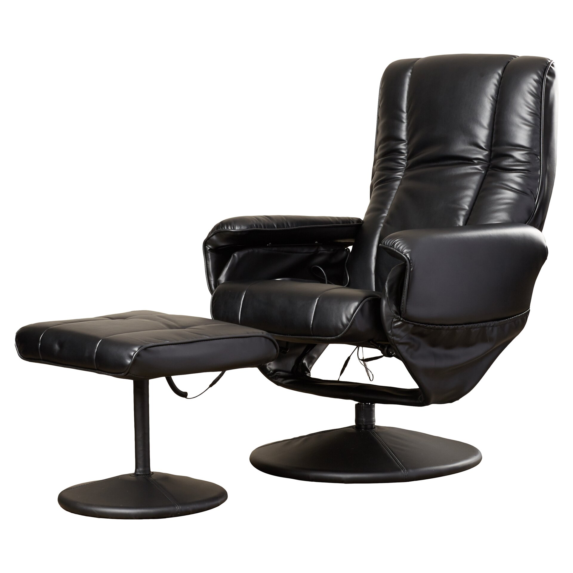 Symple Stuff Leather Heated Reclining Massage Chair With Ottoman Review
