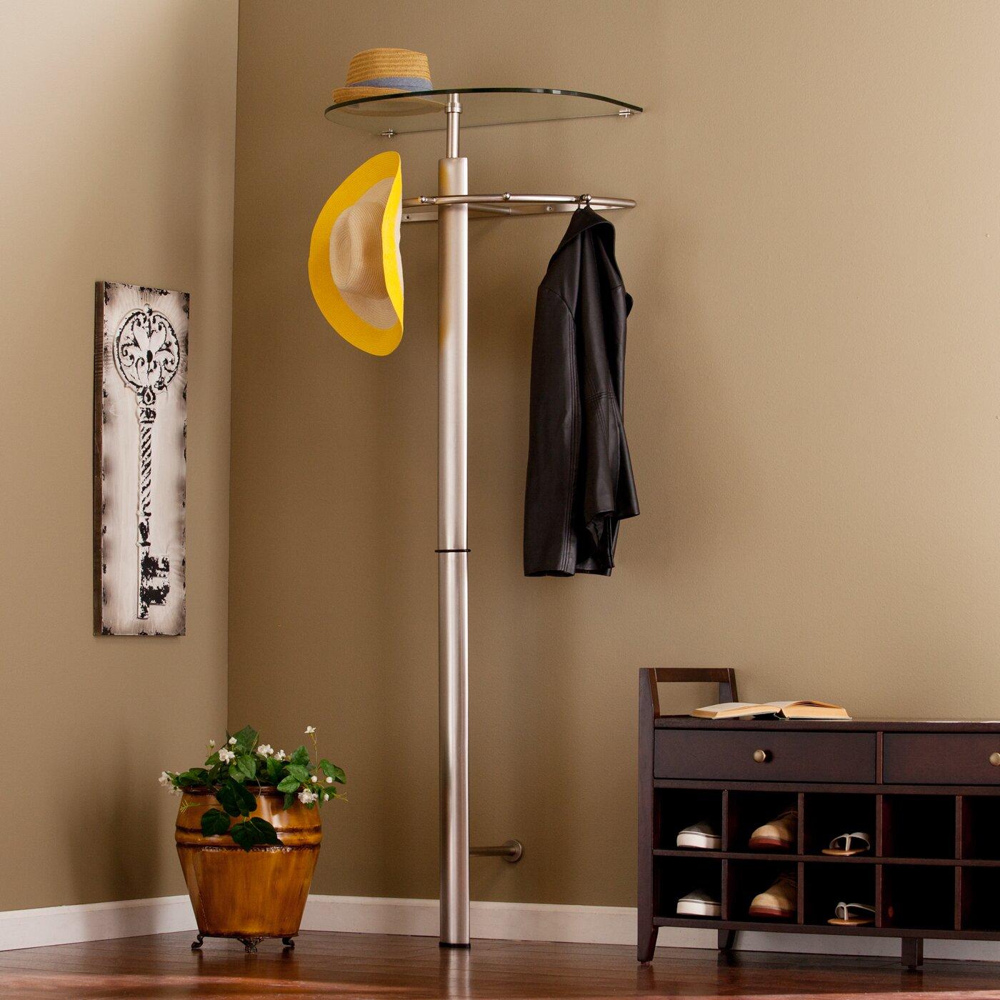 symple stuff storage wall mounted coat rack wayfair. Black Bedroom Furniture Sets. Home Design Ideas