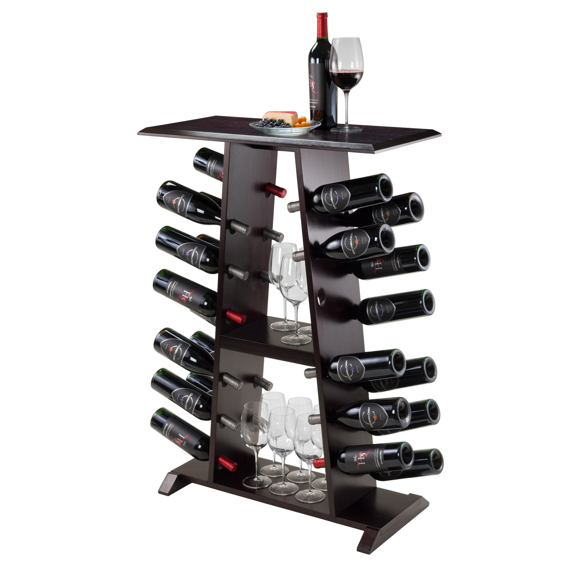 Symple stuff 24 bottle floor wine rack for Floor wine rack