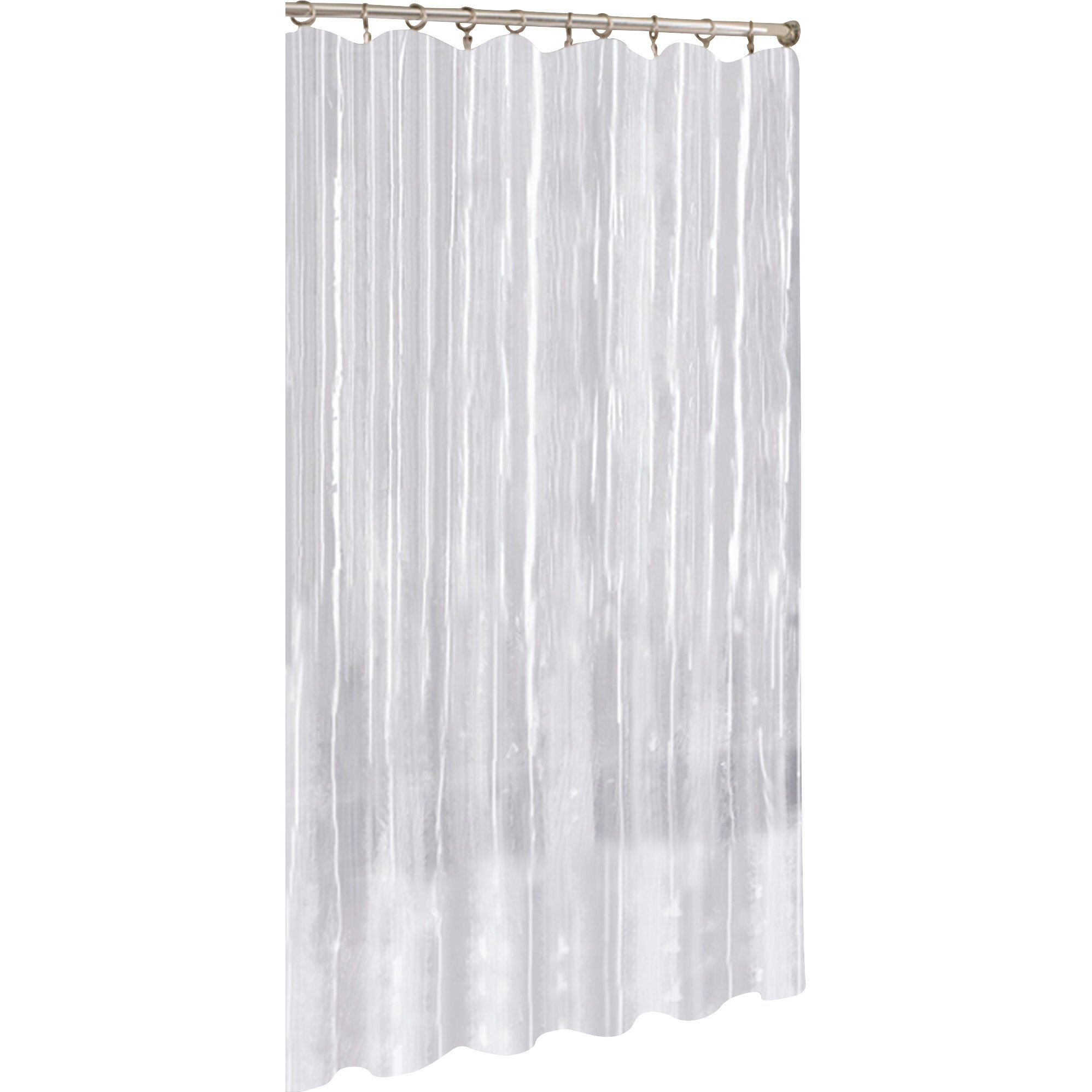 Anthropologie Ruffle Shower Curtain Vinyl Shower Curtain Liner