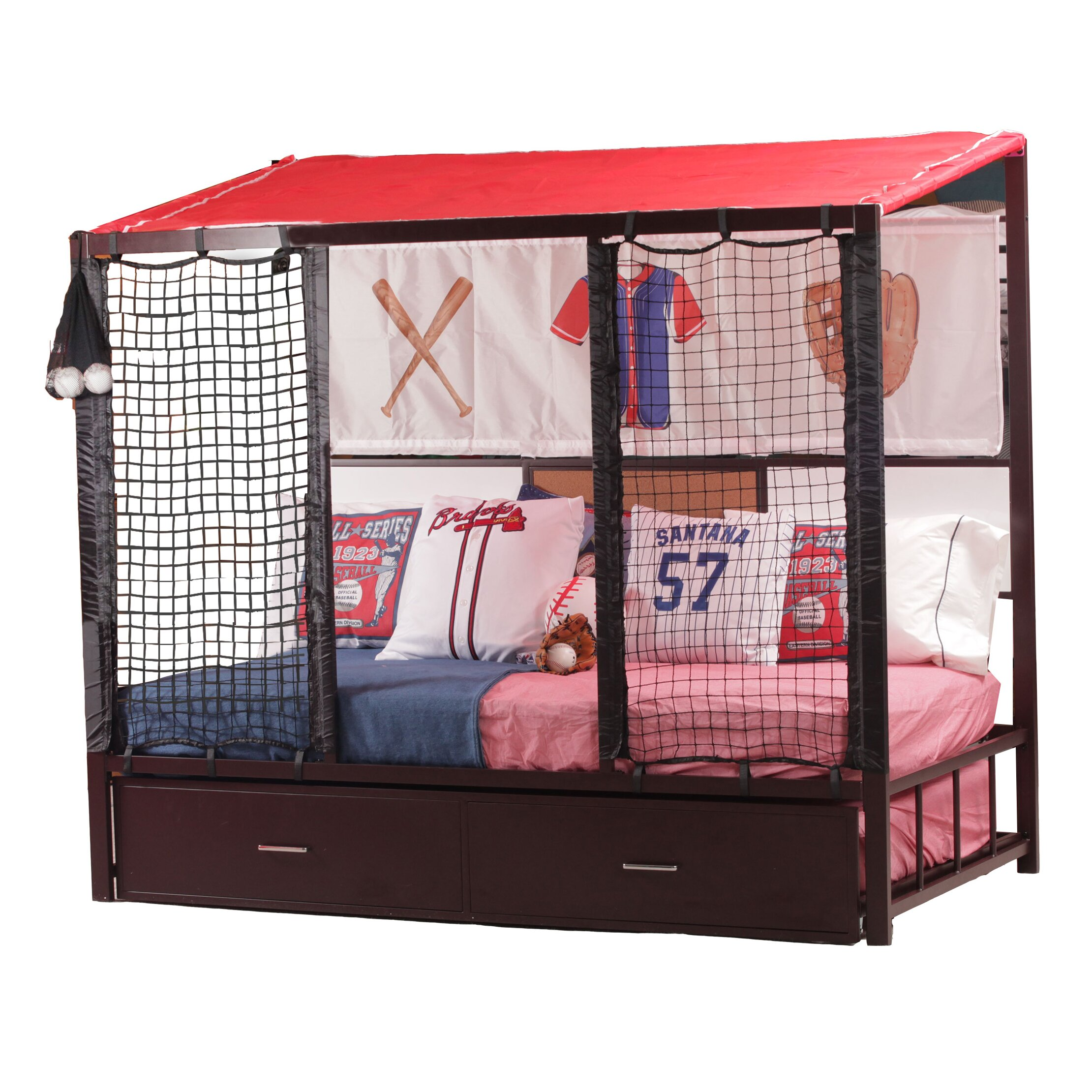Zoomie Kids Liana Dugout Twin Mates Bed With Trundle