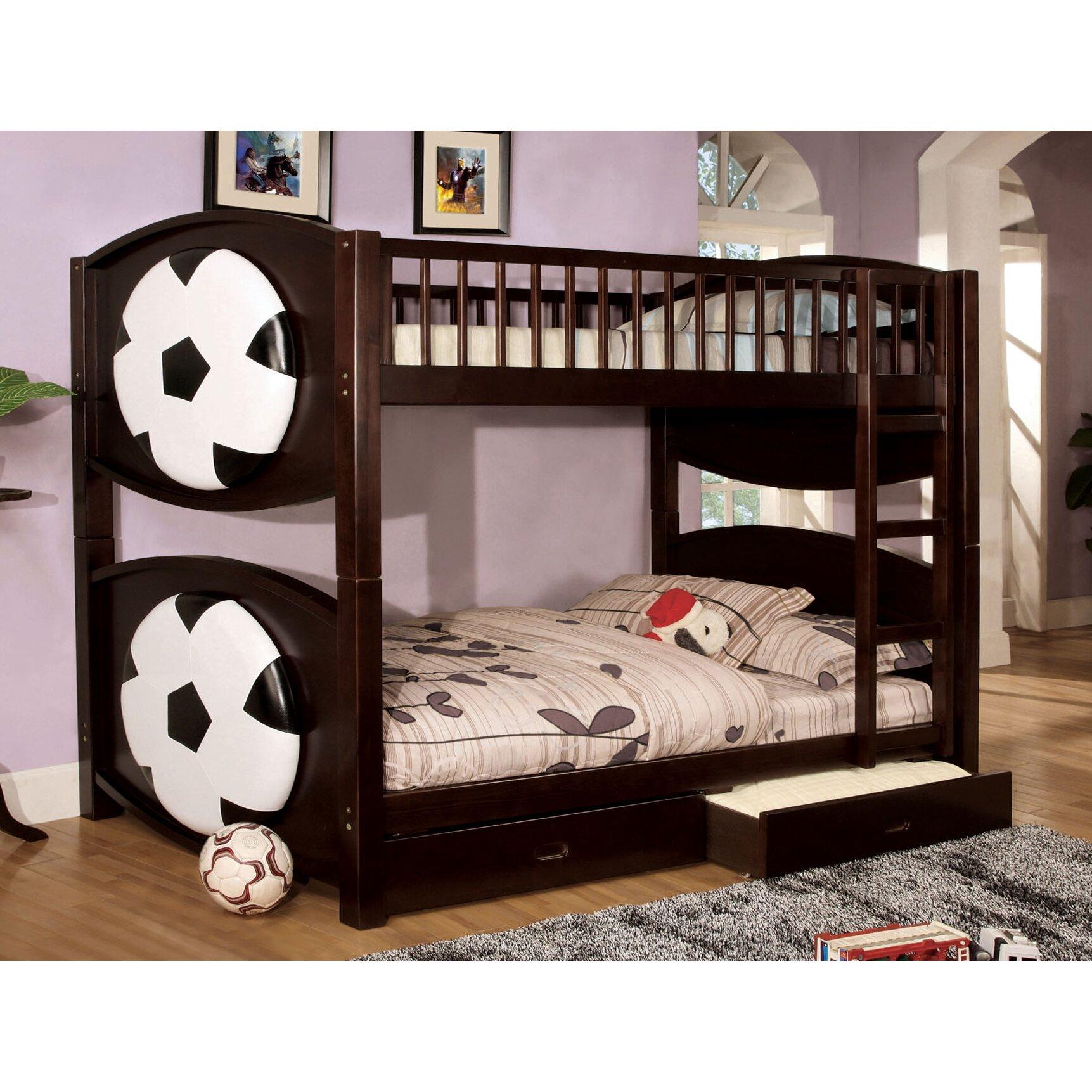 zoomie kids aiden twin bunk bed with storage wayfair. Black Bedroom Furniture Sets. Home Design Ideas