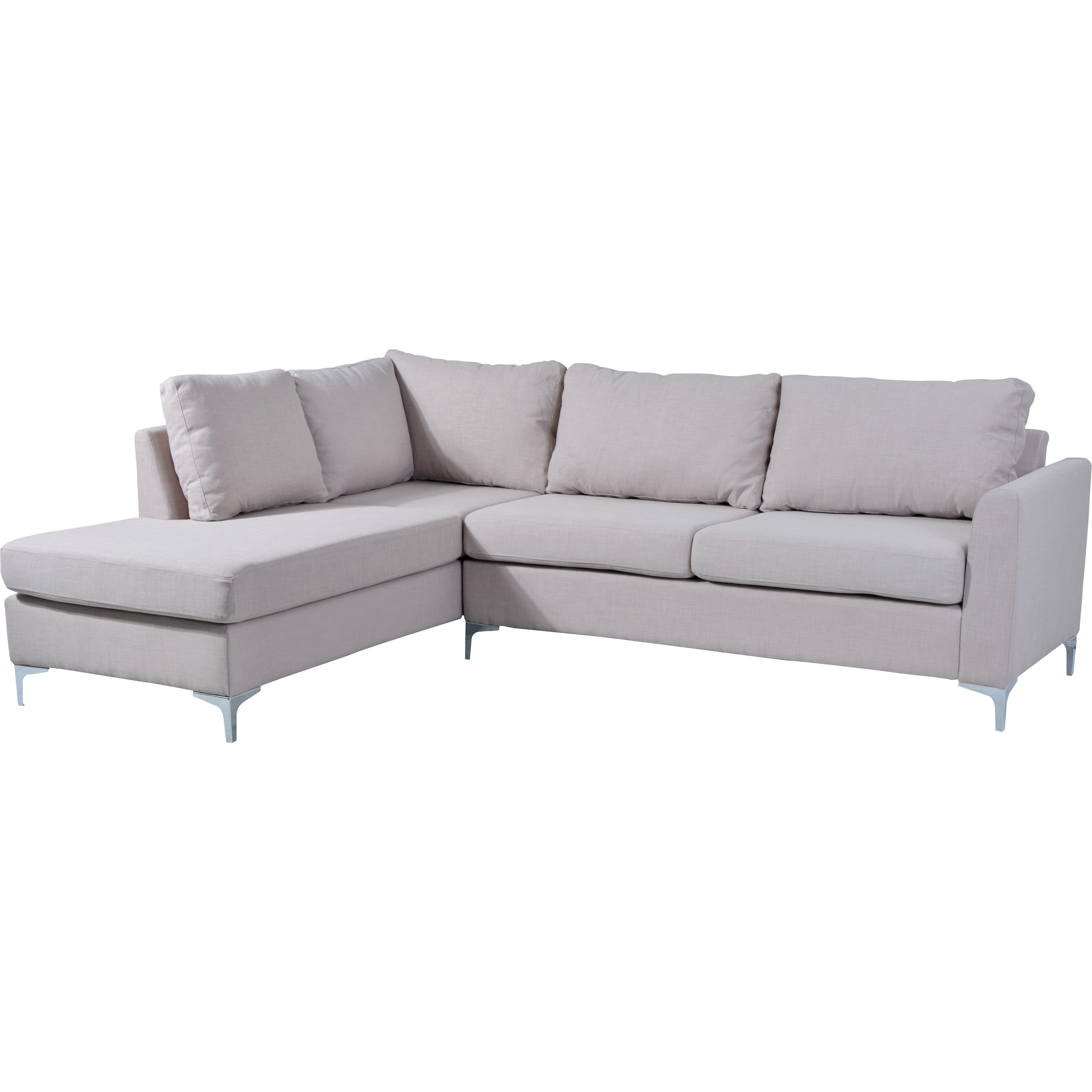 Sectional Sofa Couch Reversible Chaise Ottoman Furniture: NathanielHome Landon Reversible Chaise Sectional & Reviews