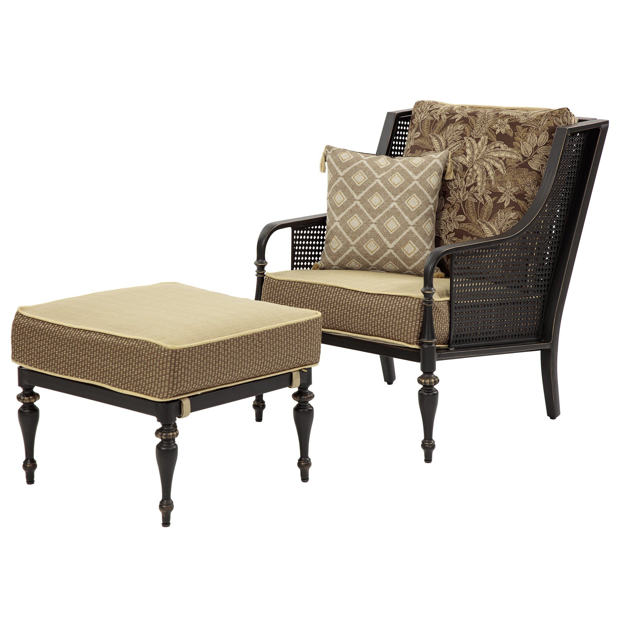 Bombayoutdoors sherborne arm chair and ottoman reviews for Chair and footstool
