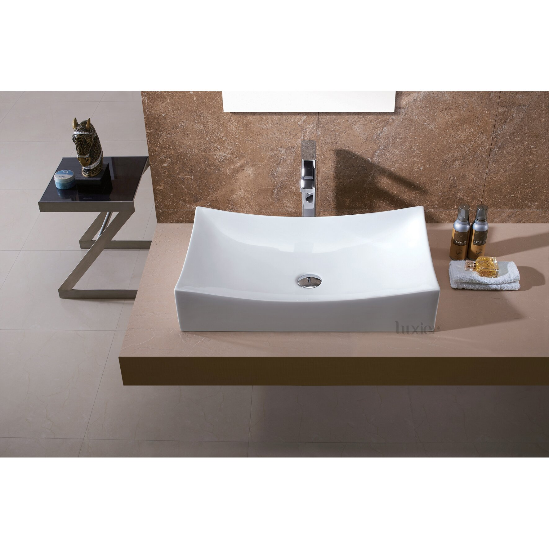 Wayfair Bathroom Vanity >> Luxier L-001 Bathroom Porcelain Ceramic Vessel Vanity Sink ...