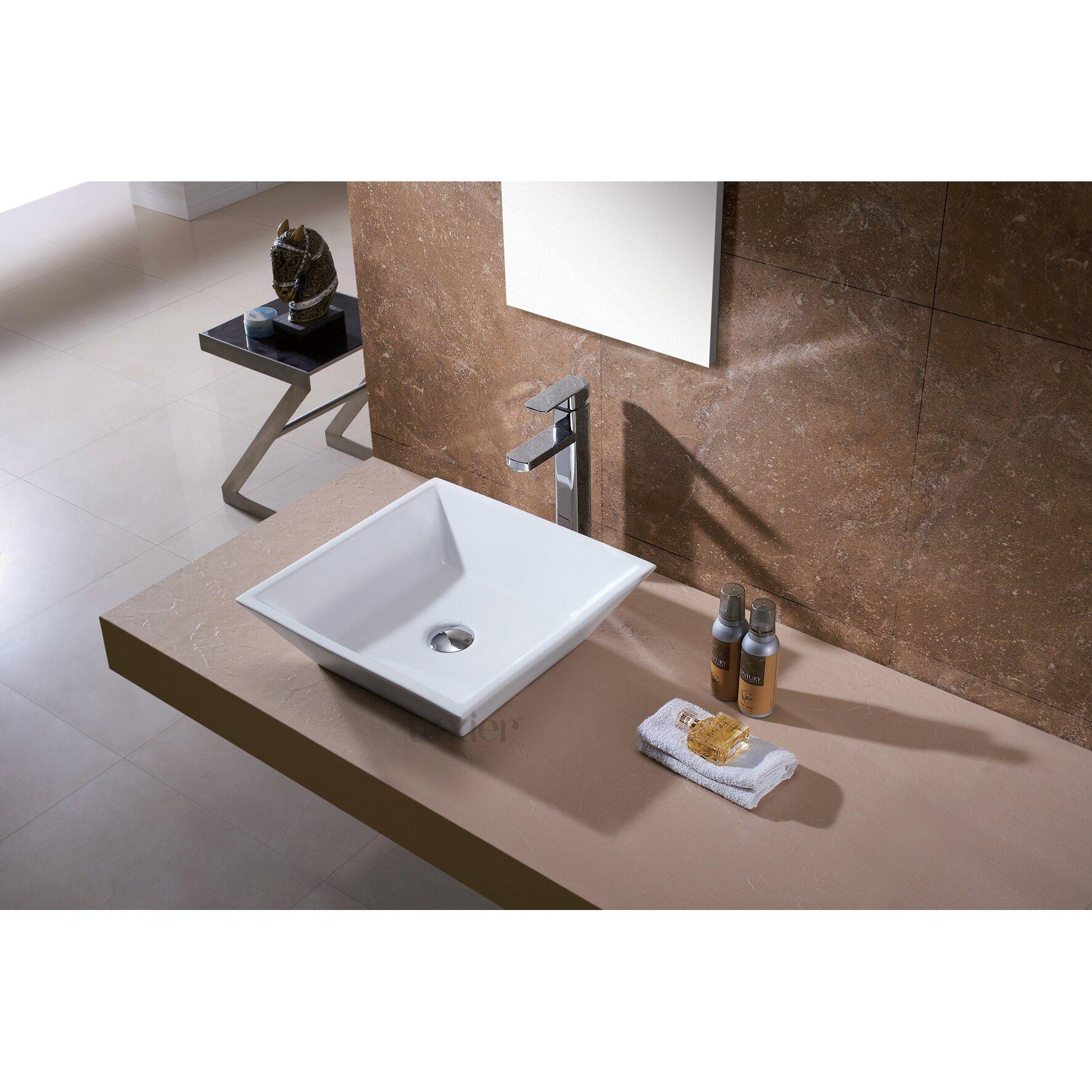 Luxier L 006 Bathroom Porcelain Ceramic Vessel Vanity Sink Art Basin Reviews Wayfair