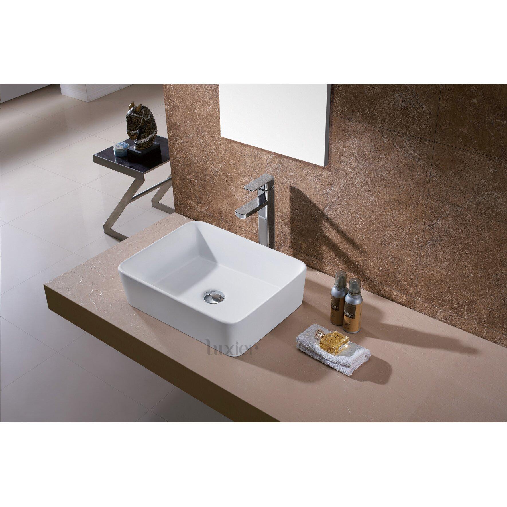 Luxier Ceramic Vessel Bathroom Sink Reviews Wayfair
