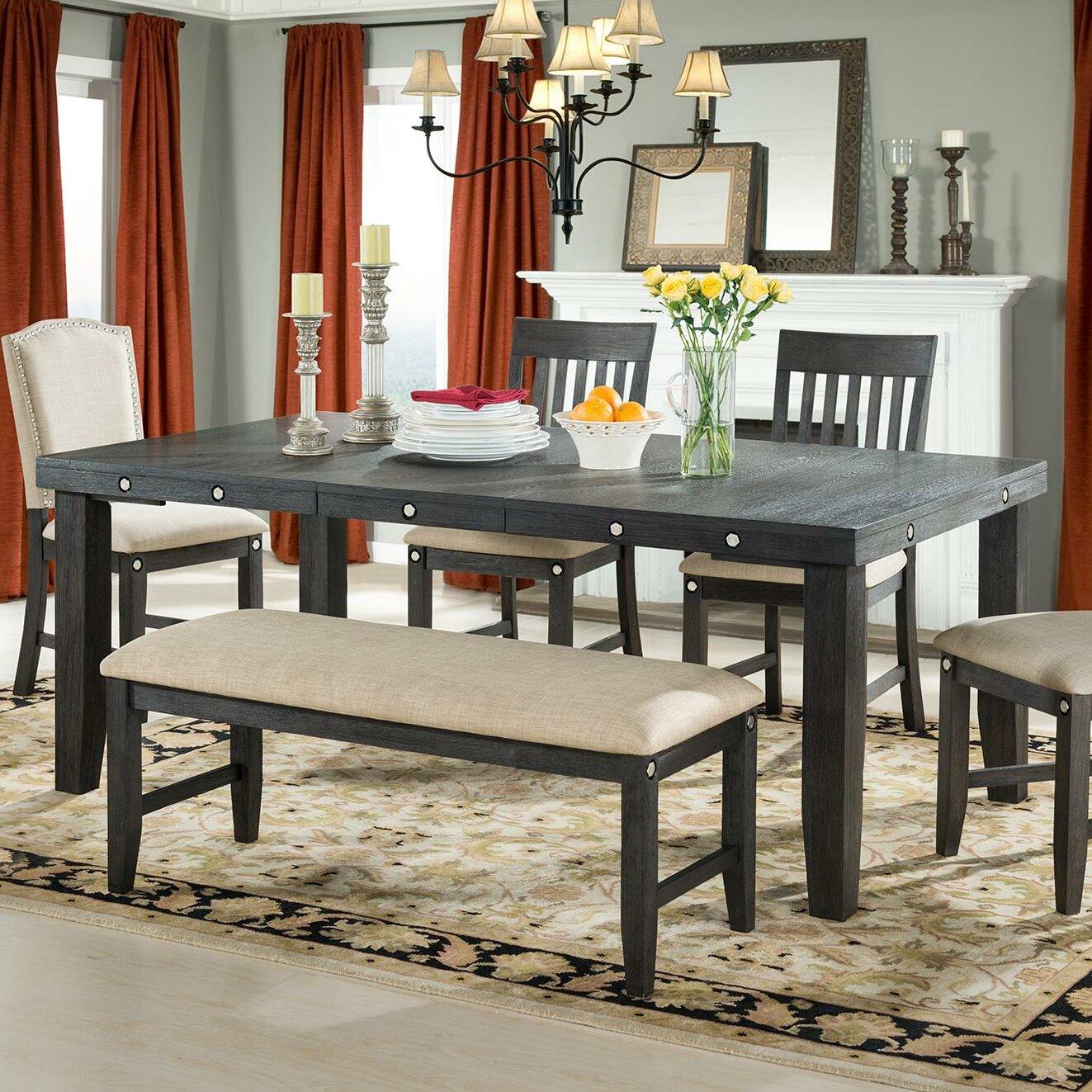 vilohomeinc marseille provence extendable dining table wayfair. Black Bedroom Furniture Sets. Home Design Ideas
