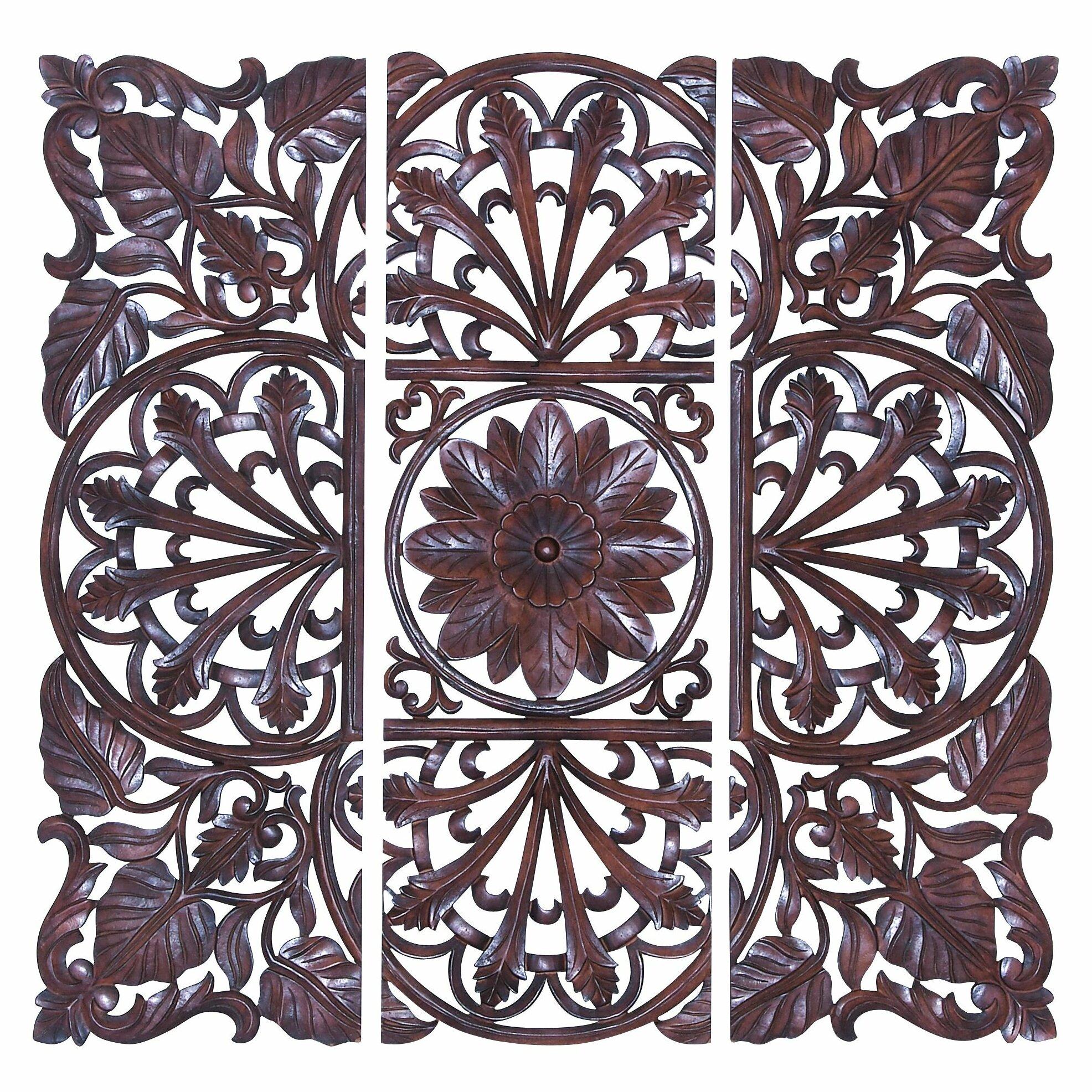 astoria grand 3 piece wall d cor set reviews wayfair. Black Bedroom Furniture Sets. Home Design Ideas