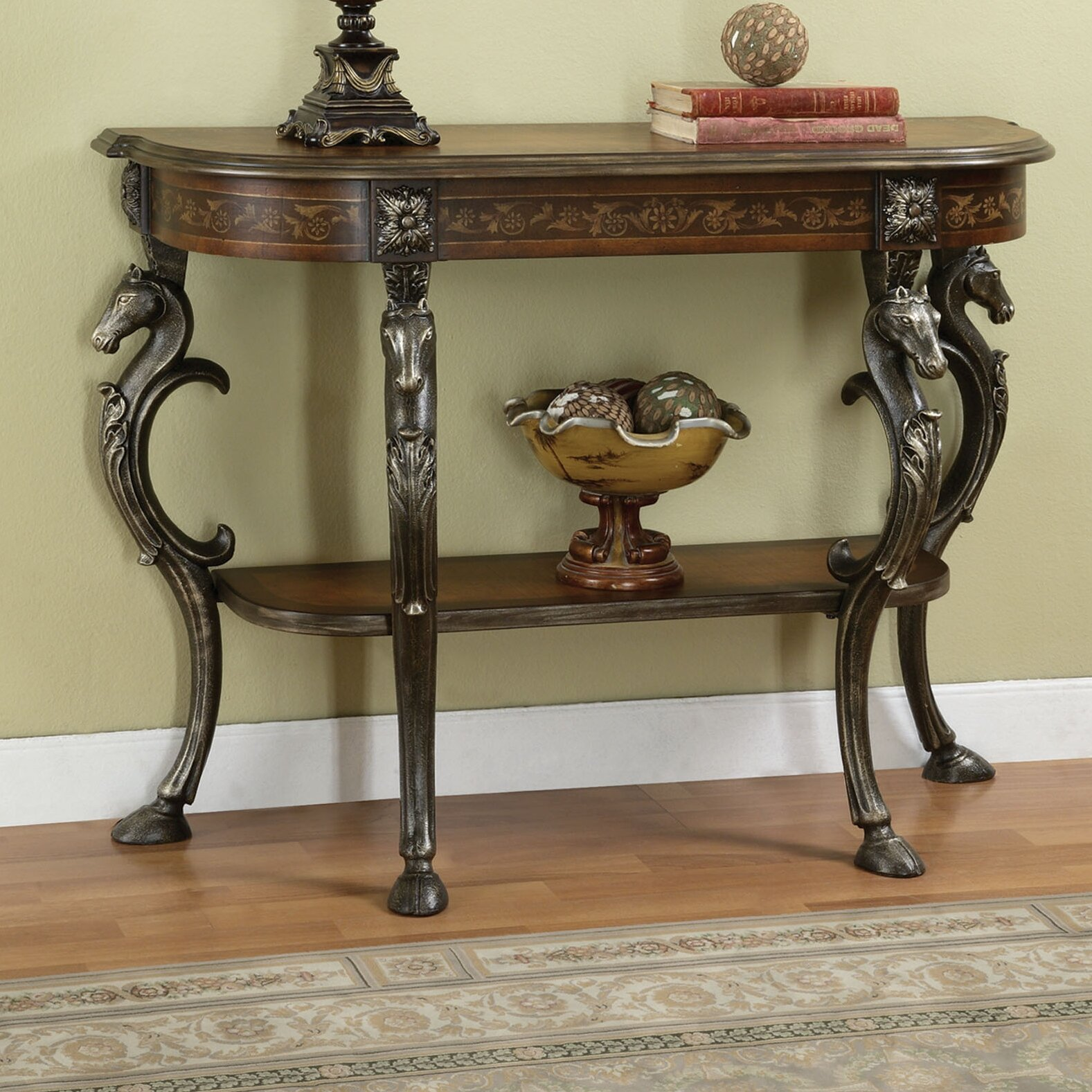 Astoria grand berkhamstead wild horses console table for Sofa table sale