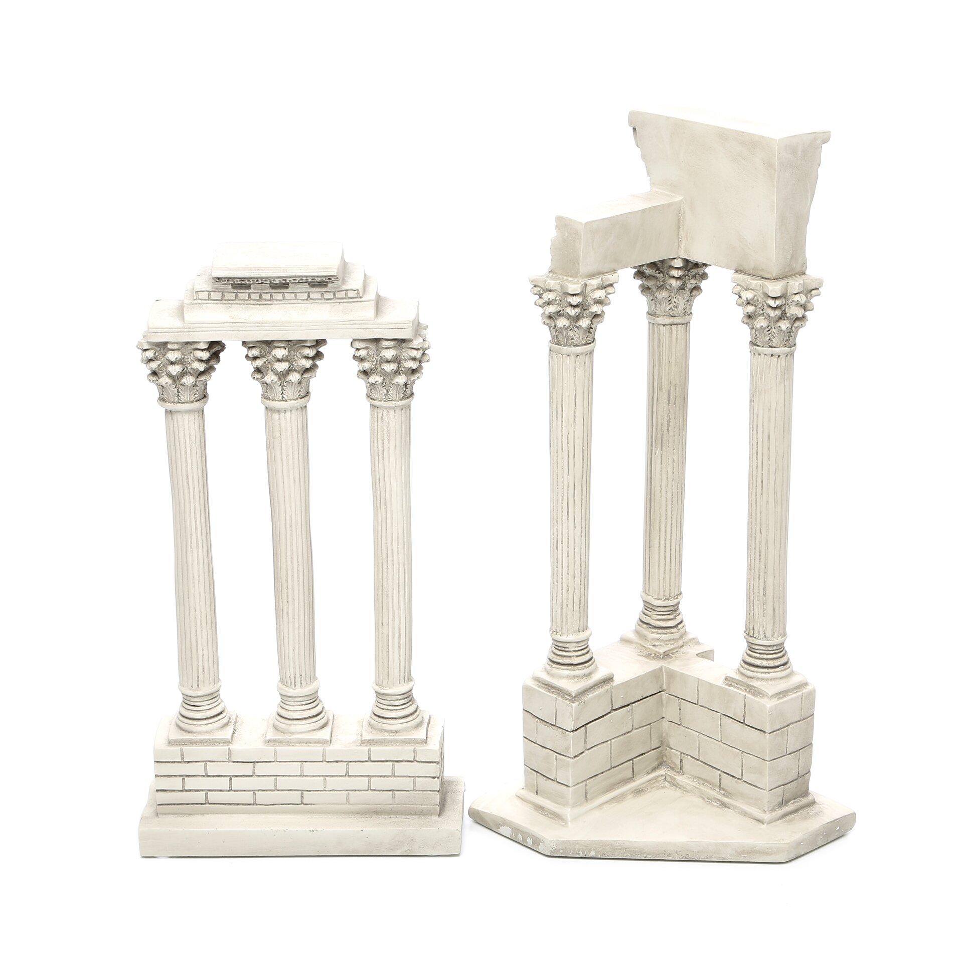Astoria grand 2 piece roman forum columns sculpture for Decorative columns