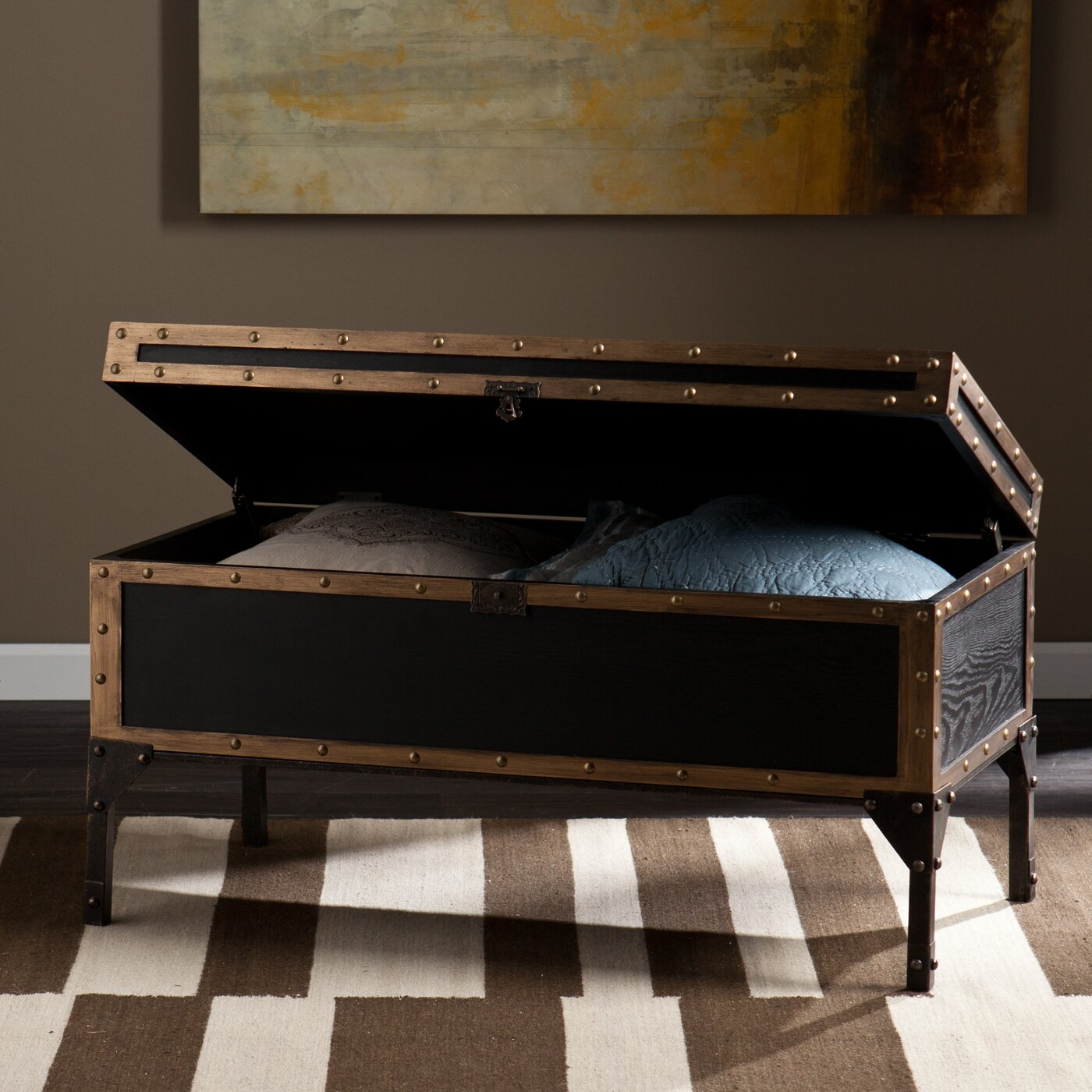 Astoria Grand Radway Travel Coffee Table Trunk & Reviews