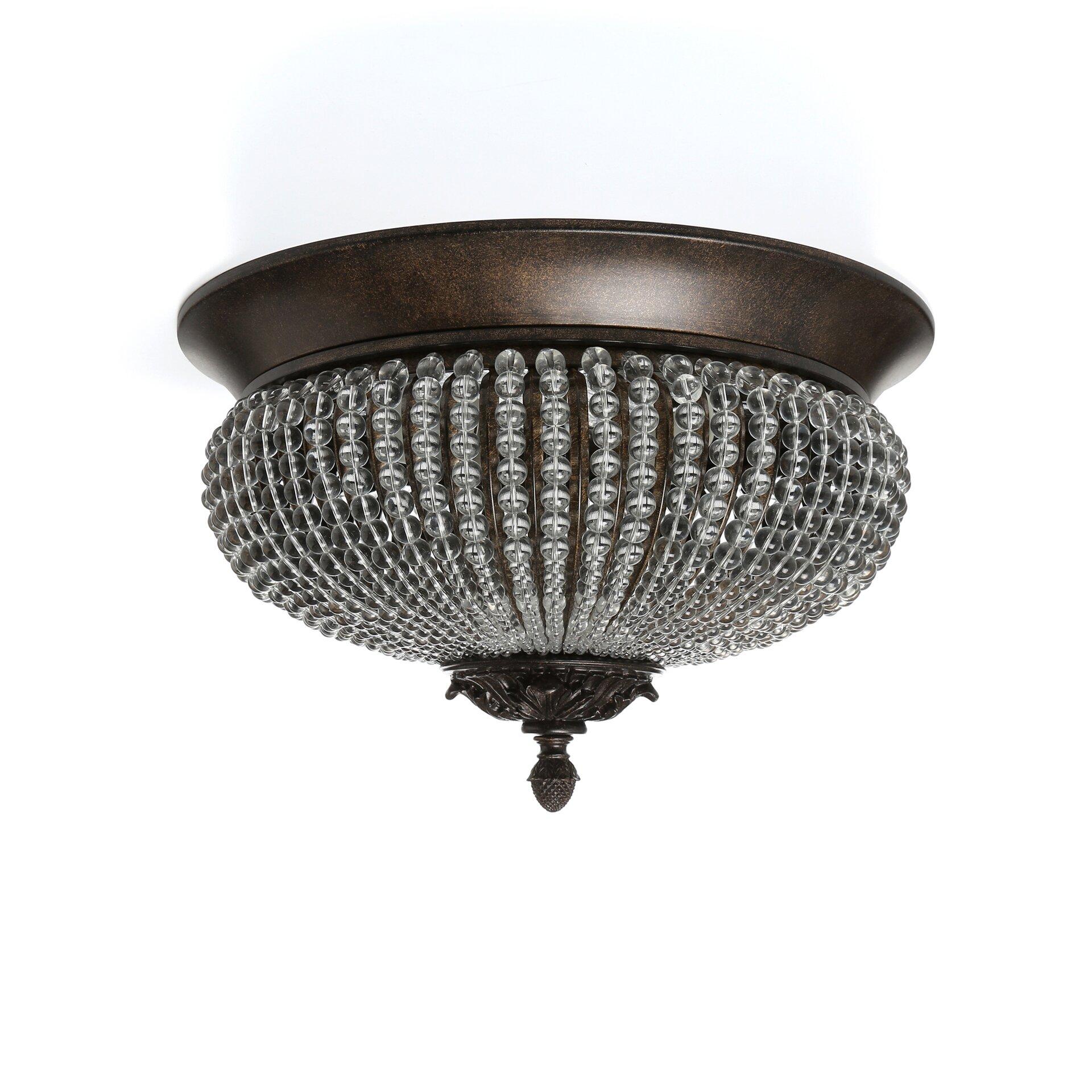 Astoria Grand Missenden 2 Light Flush Mount & Reviews
