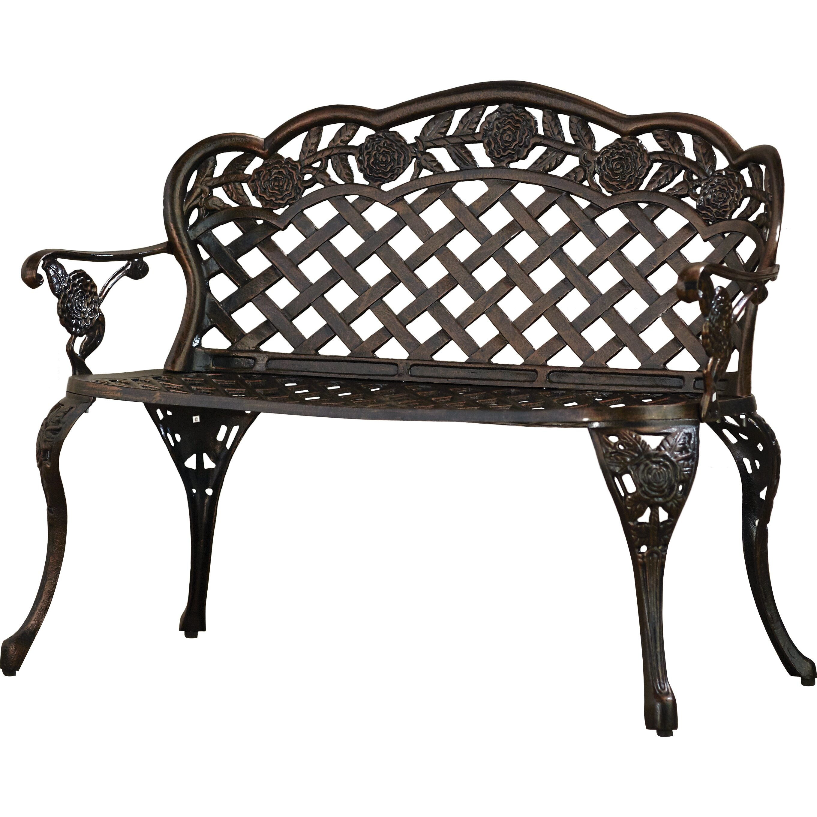Astoria grand madama cast aluminum garden bench reviews wayfair Aluminum benches