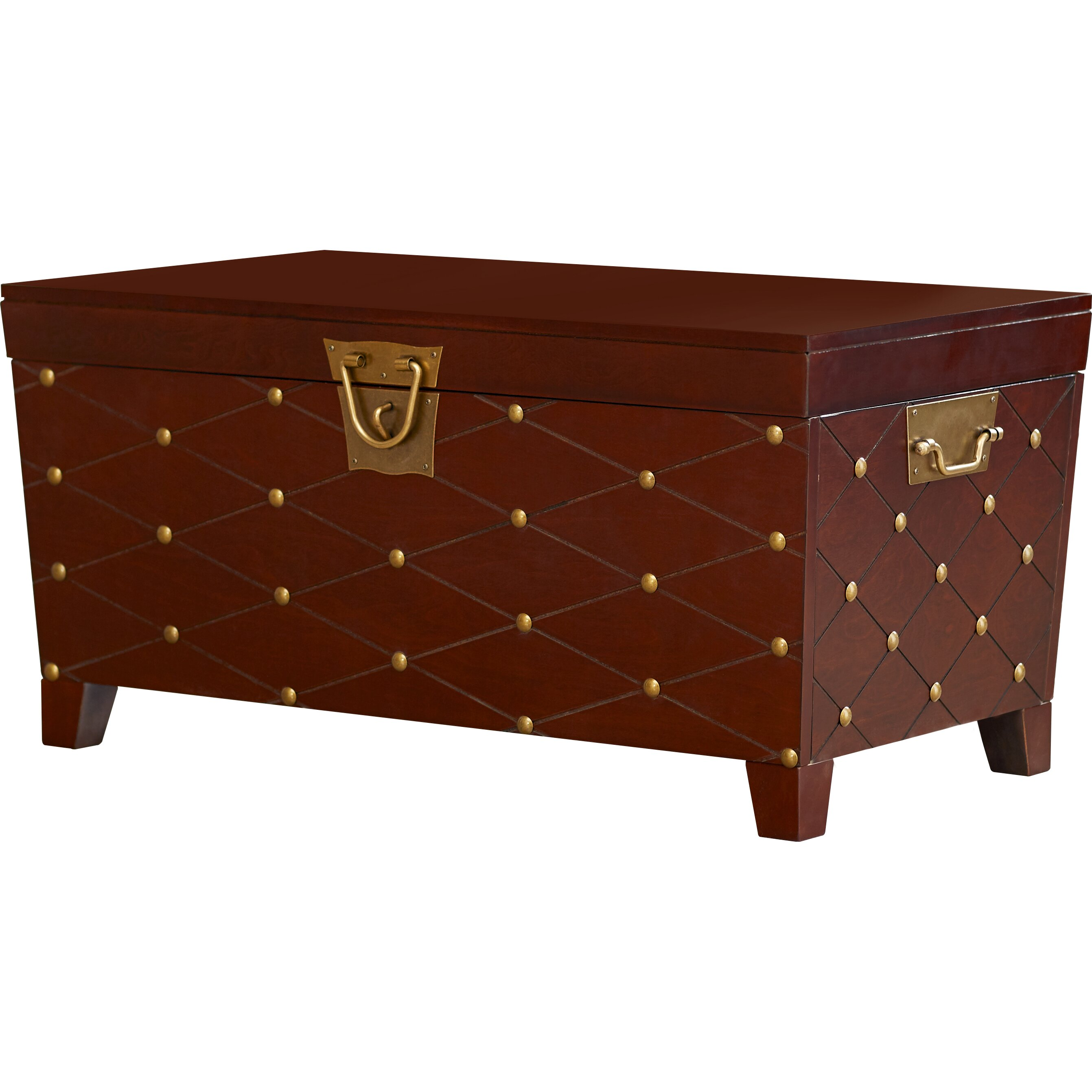 Astoria grand cainhoe nailhead trunk coffee table for Grande table