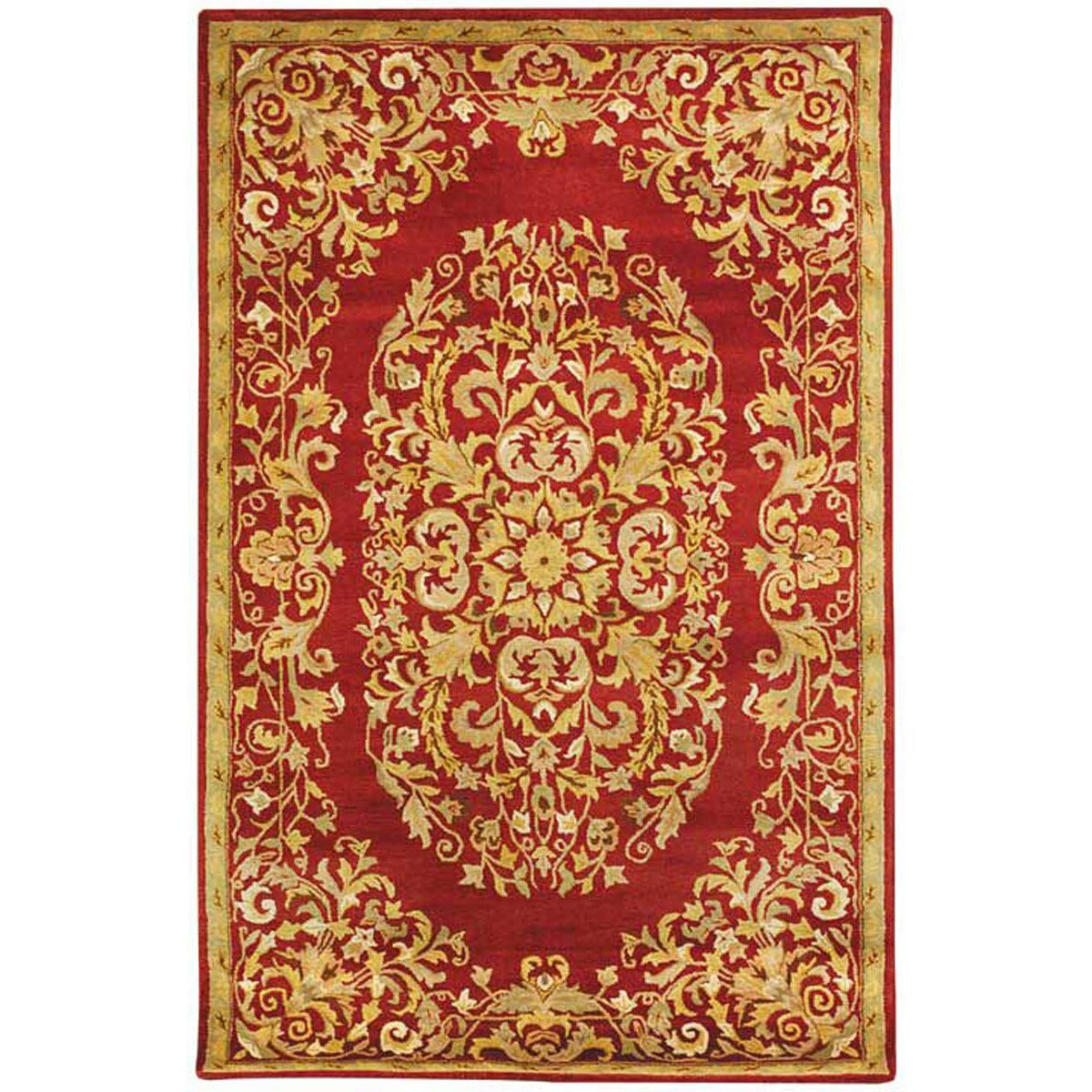 Astoria grand balthrop red yellow floral area rug wayfair for Red floral area rug